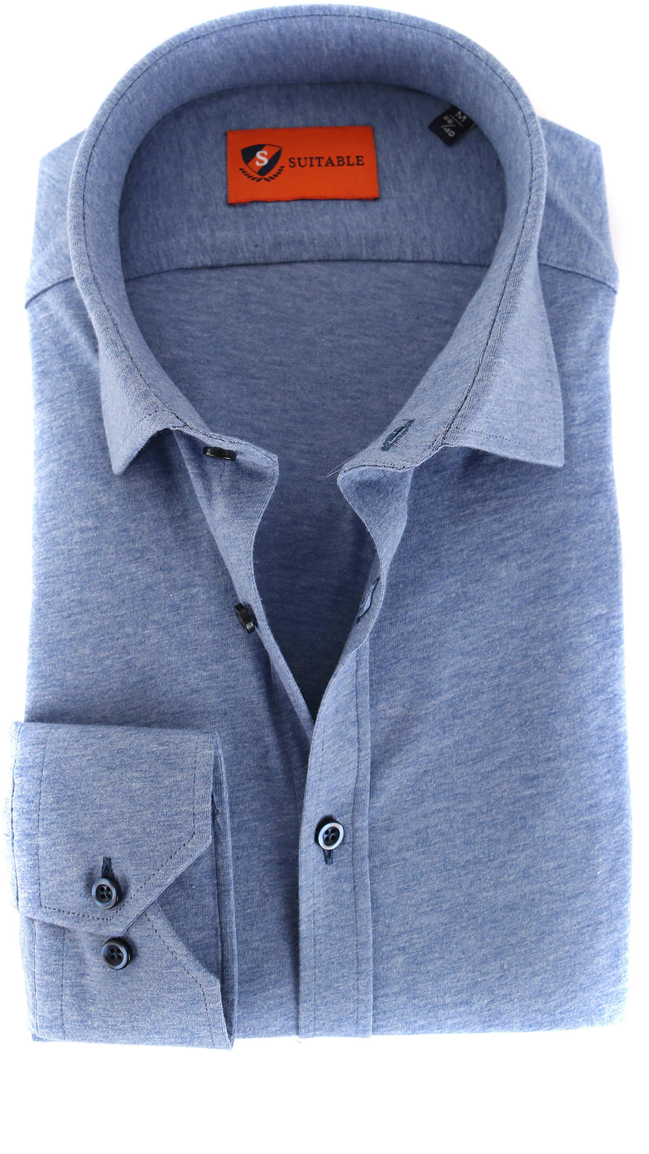 Suitable Overhemd Jersey Lichtblauw foto 0