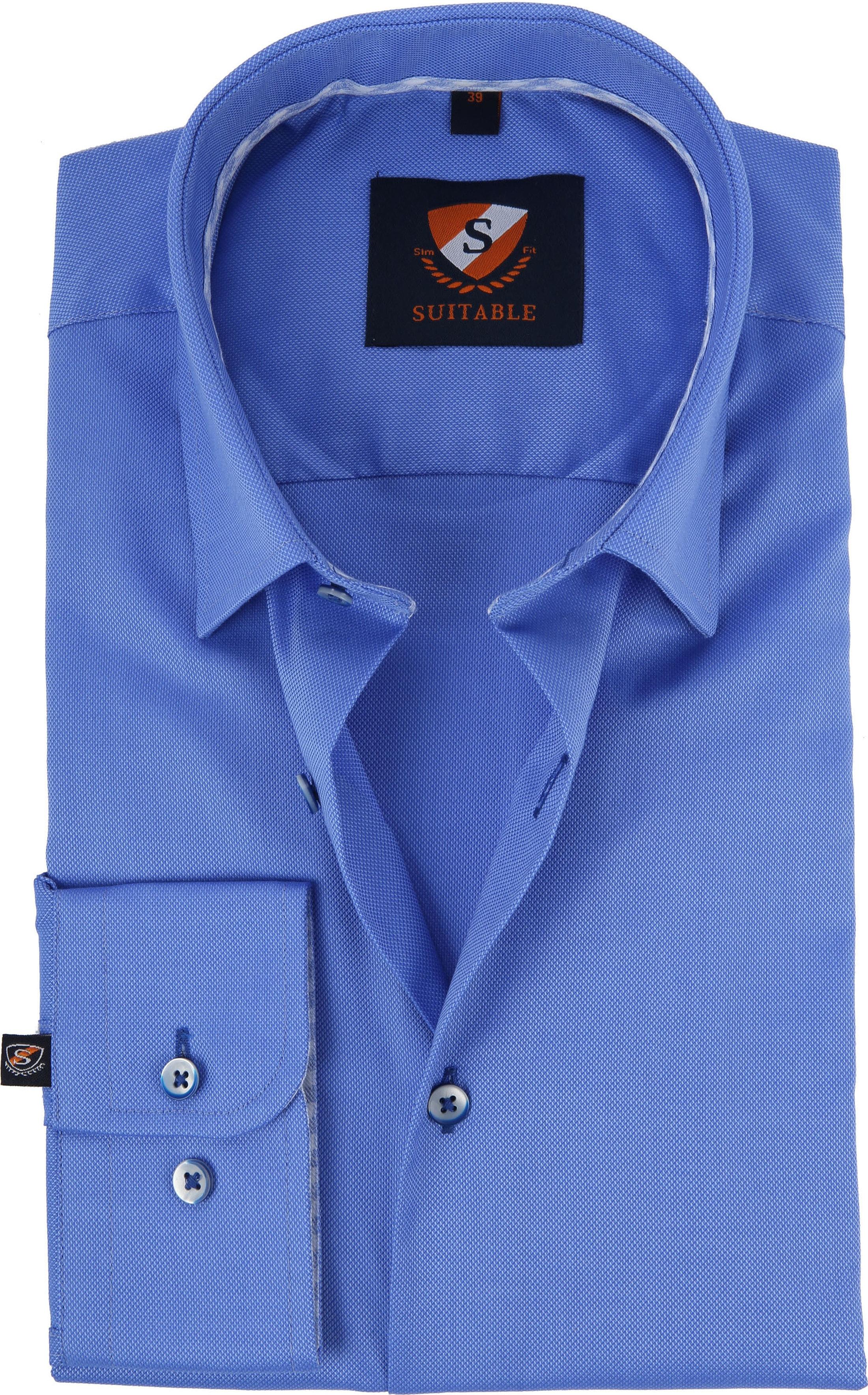 Suitable Overhemd Kobalt HBD foto 0