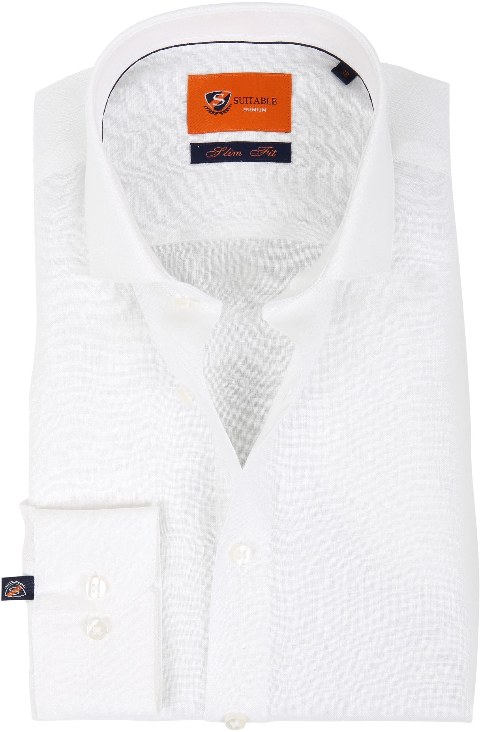 Suitable Overhemd Linnen Wit D81-13 foto 0