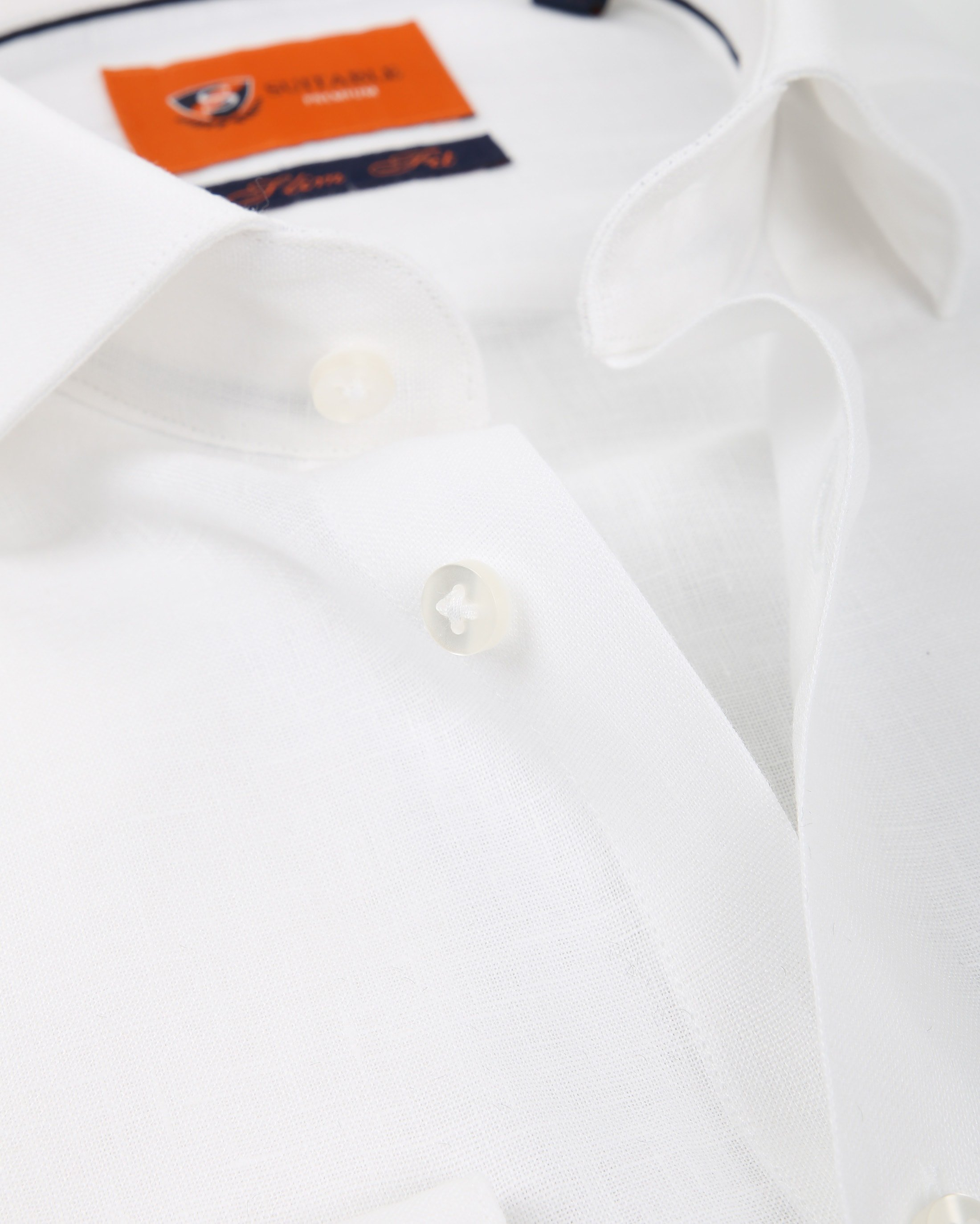 Suitable Overhemd Linnen Wit D81-13 foto 1
