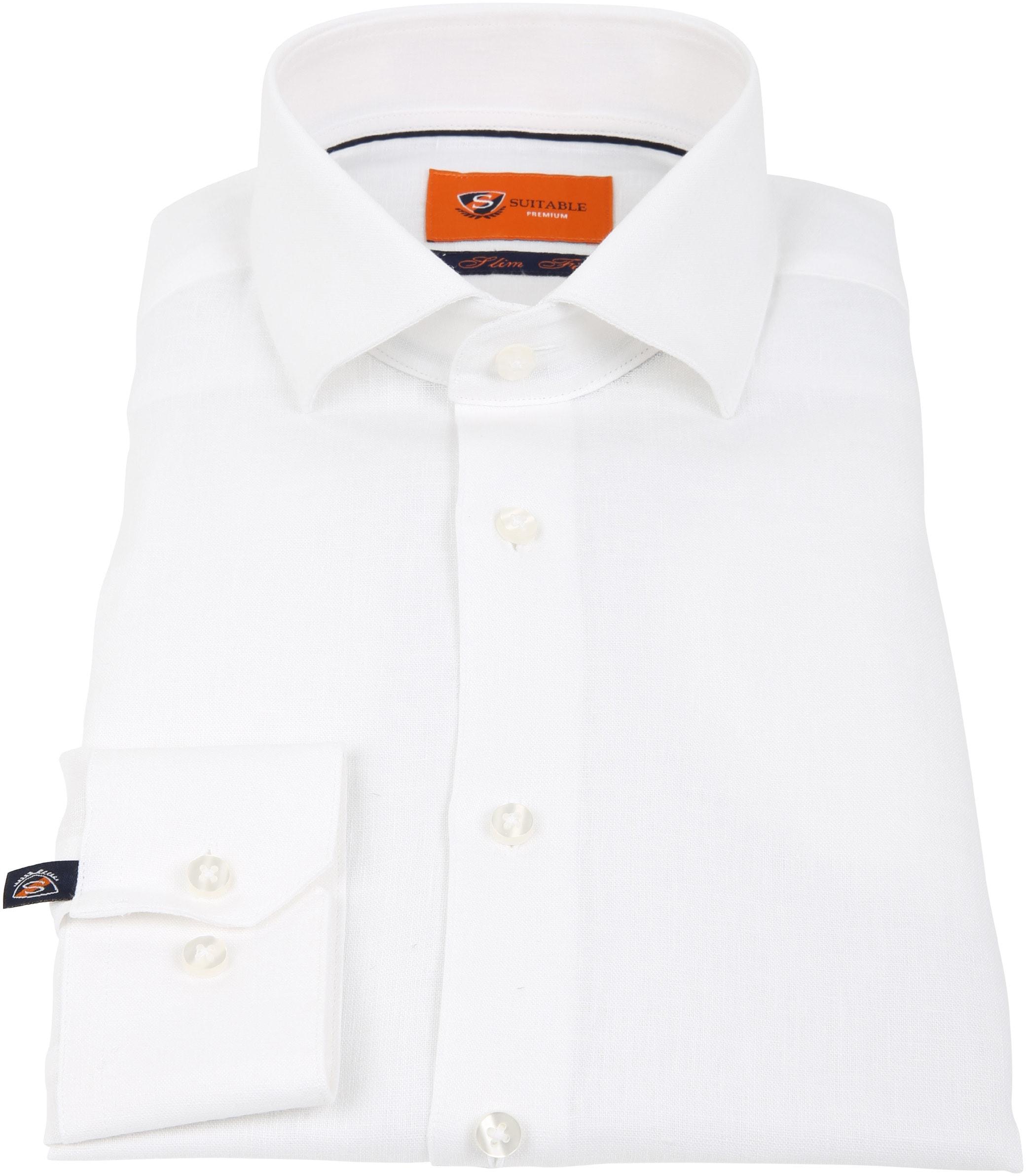 Suitable Overhemd Linnen Wit D81-13 foto 2