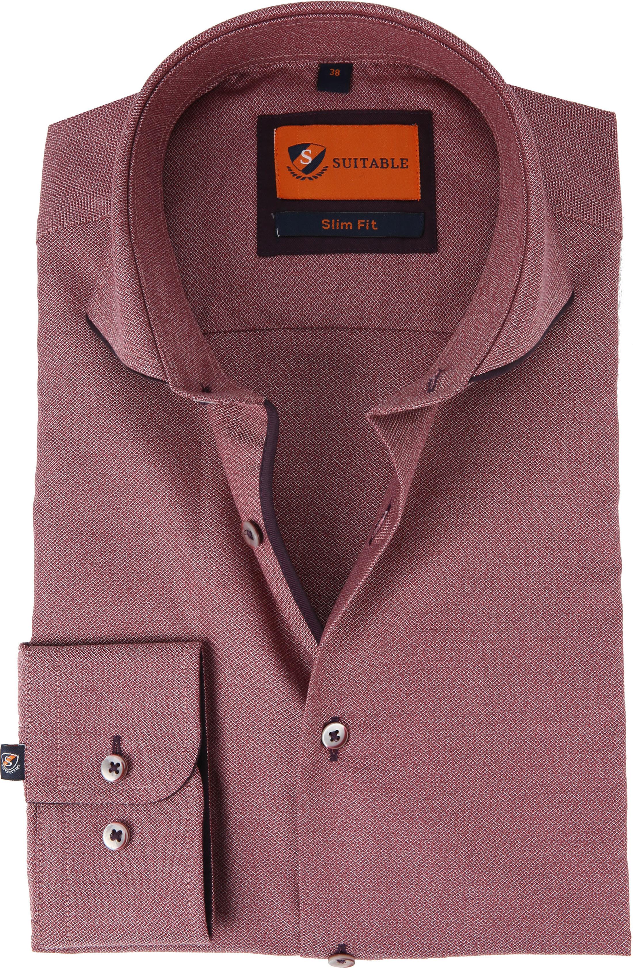 Bordeaux Overhemd.Suitable Overhemd Mouline Bordeaux 192 3 Caw Tip Online Bestellen