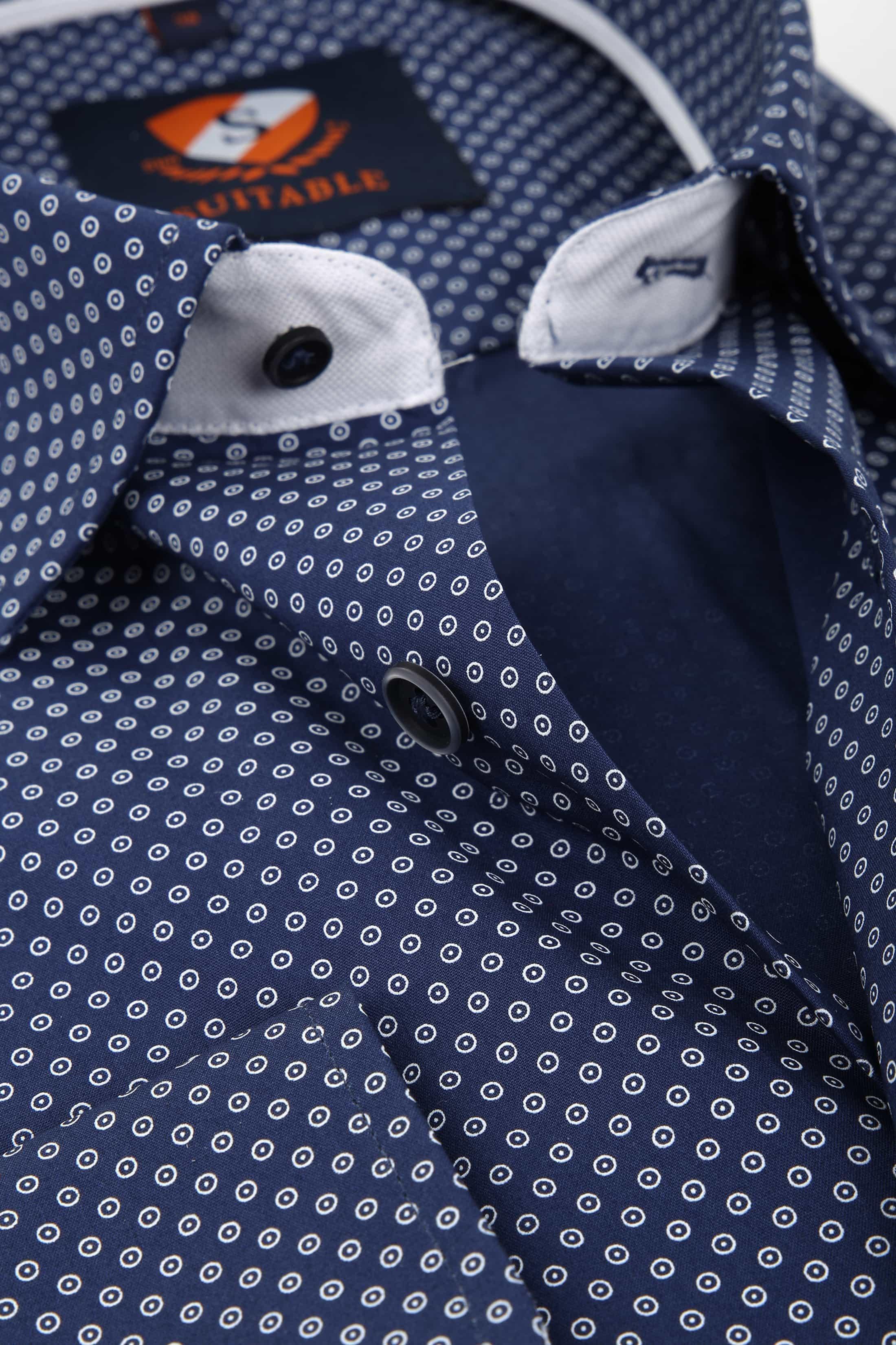 Suitable Overhemd Navy 183-6 foto 1