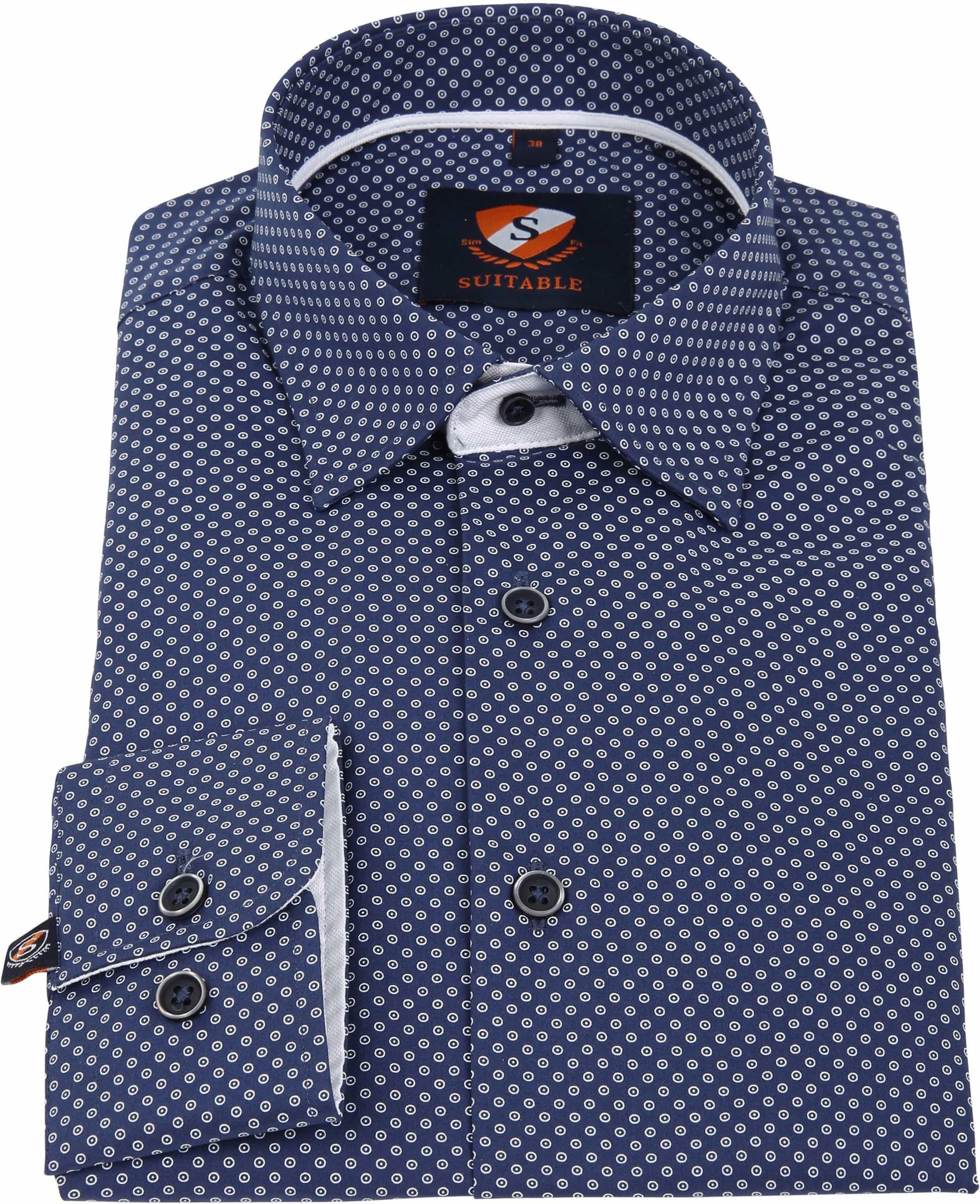 Suitable Overhemd Navy 183-6 foto 2
