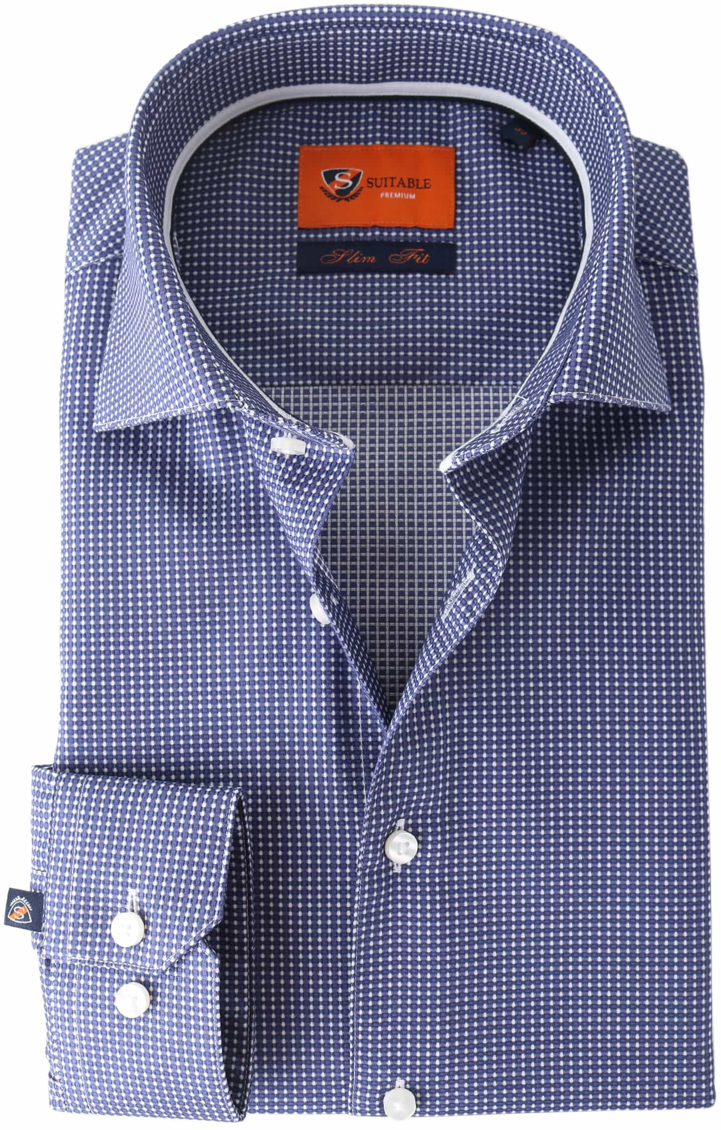 Suitable Overhemd Navy Checks Dot foto 0