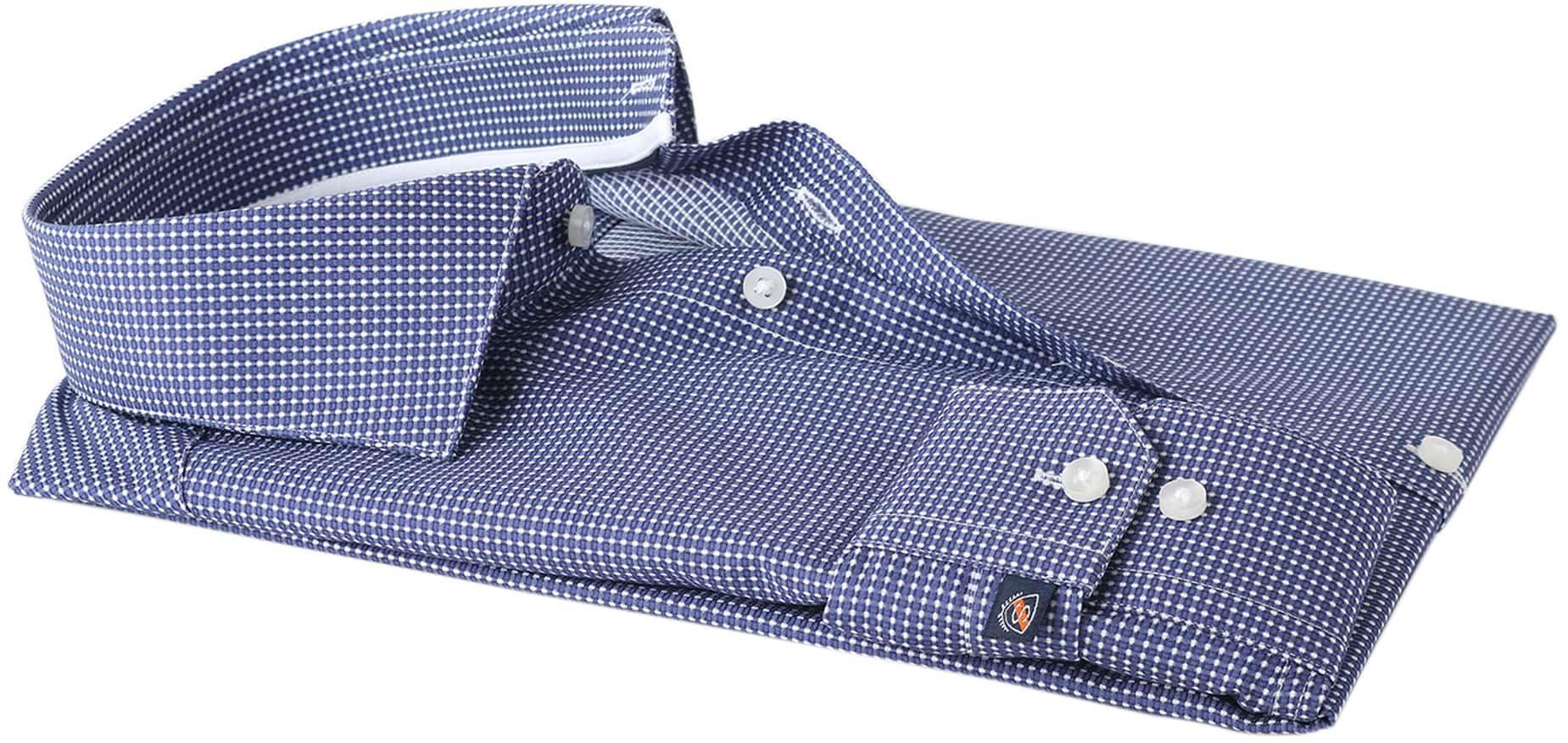 Suitable Overhemd Navy Checks Dot foto 3