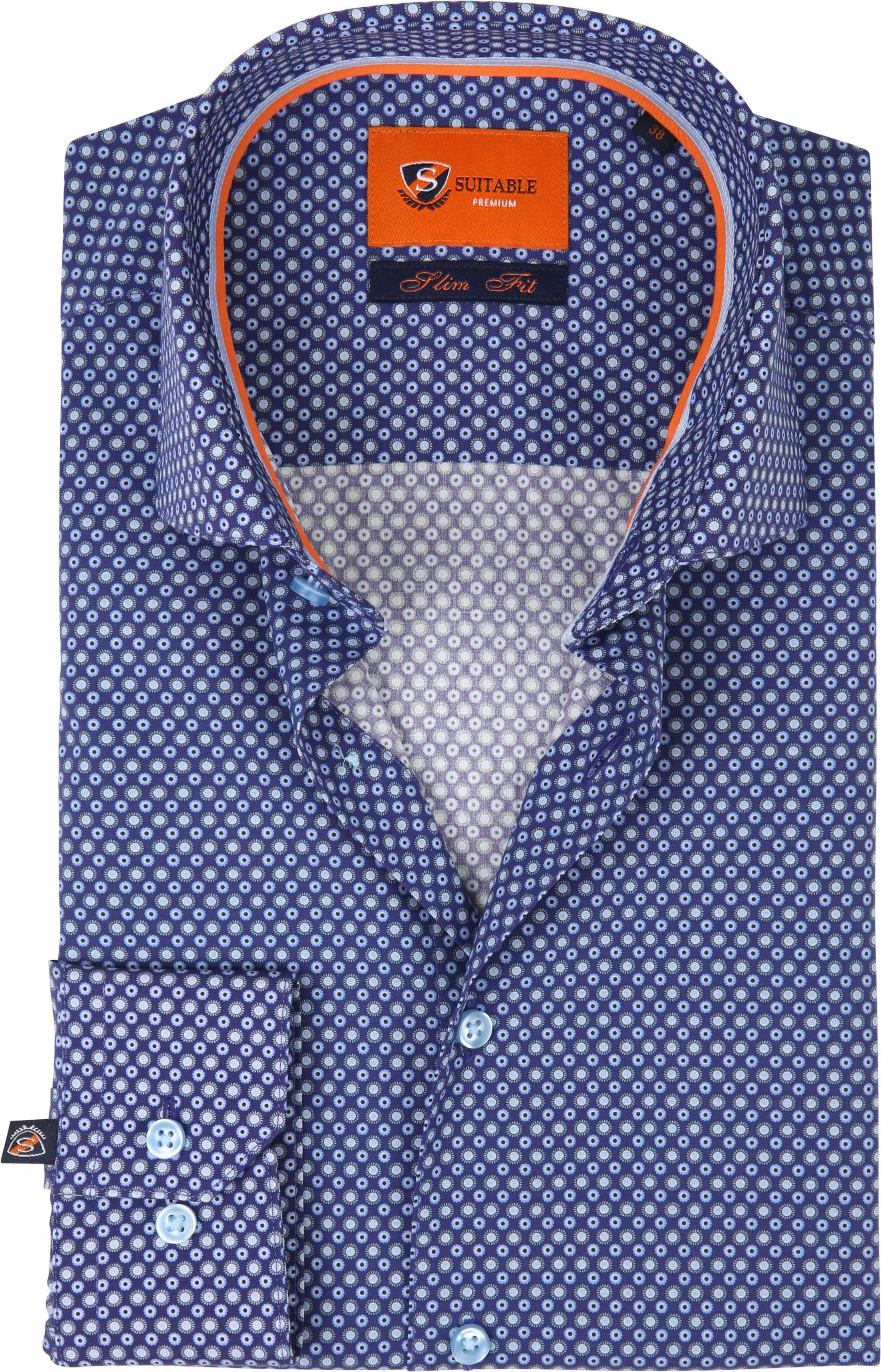 Suitable Overhemd Navy D82-04 foto 0