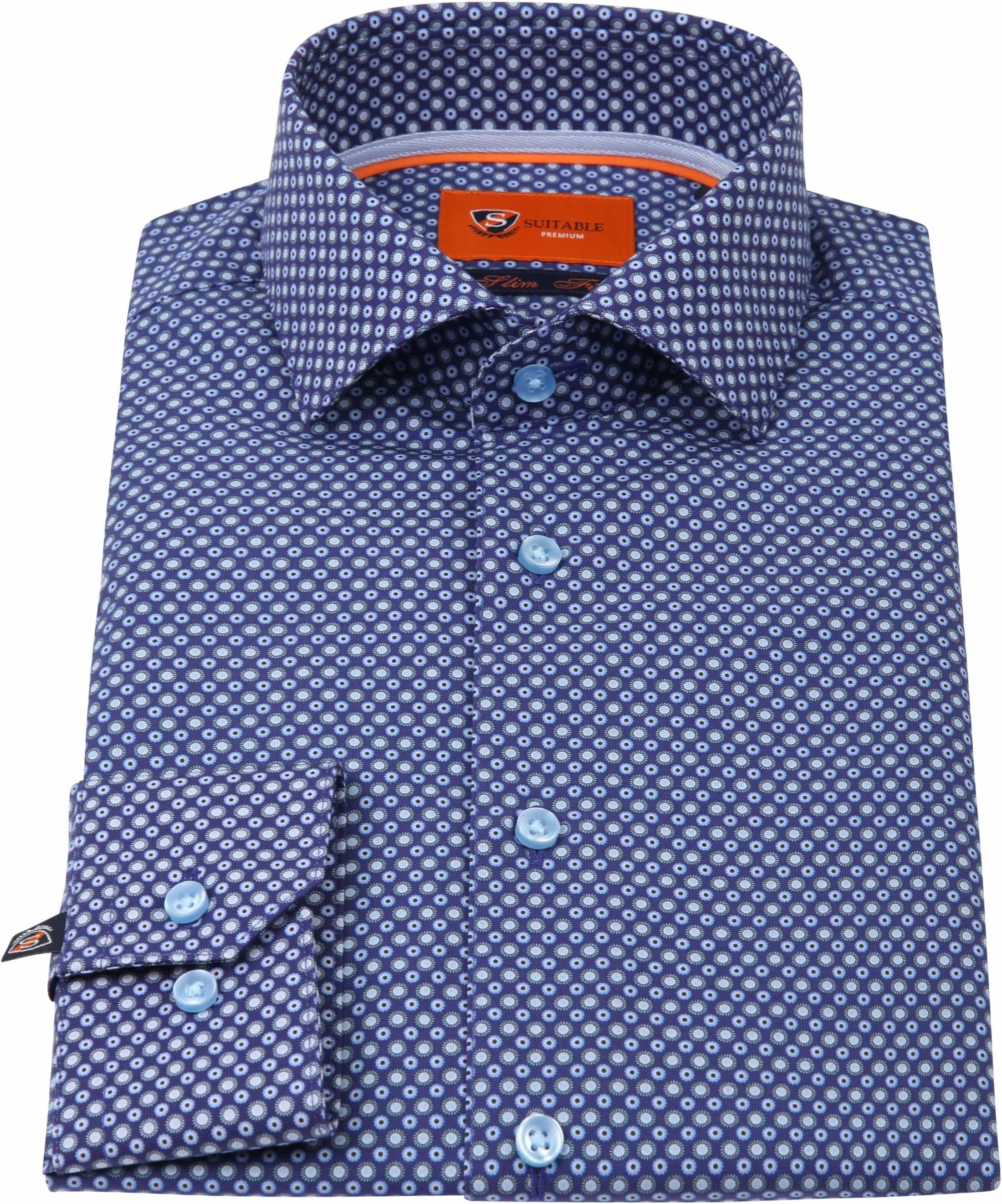 Suitable Overhemd Navy D82-04 foto 2
