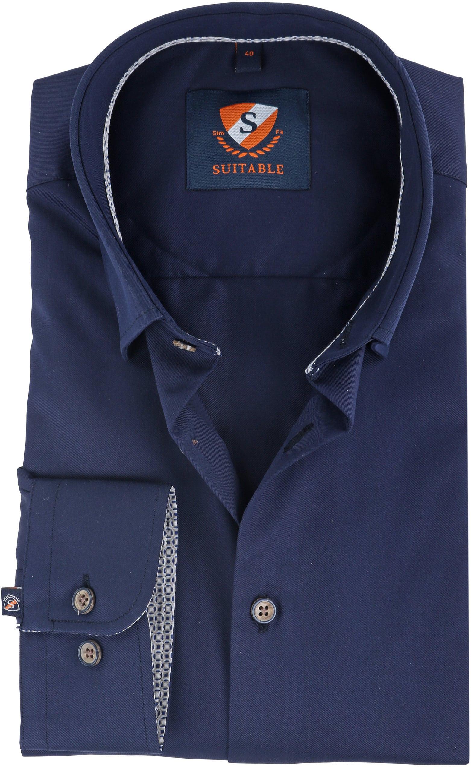 Suitable Overhemd Navy HBD foto 0