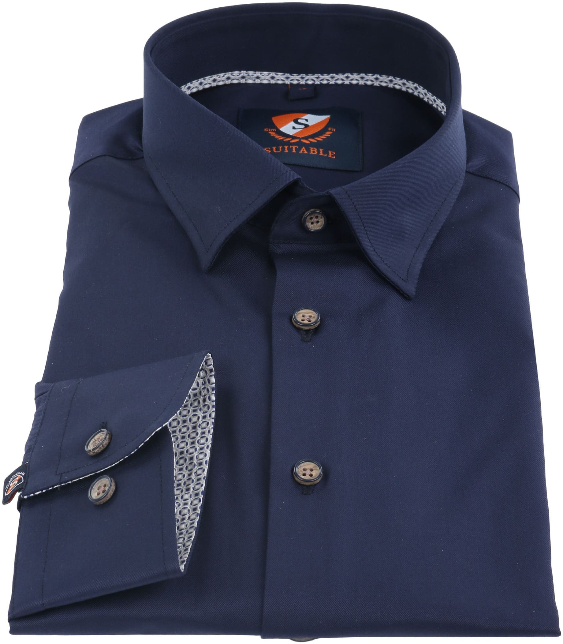 Suitable Overhemd Navy HBD foto 1