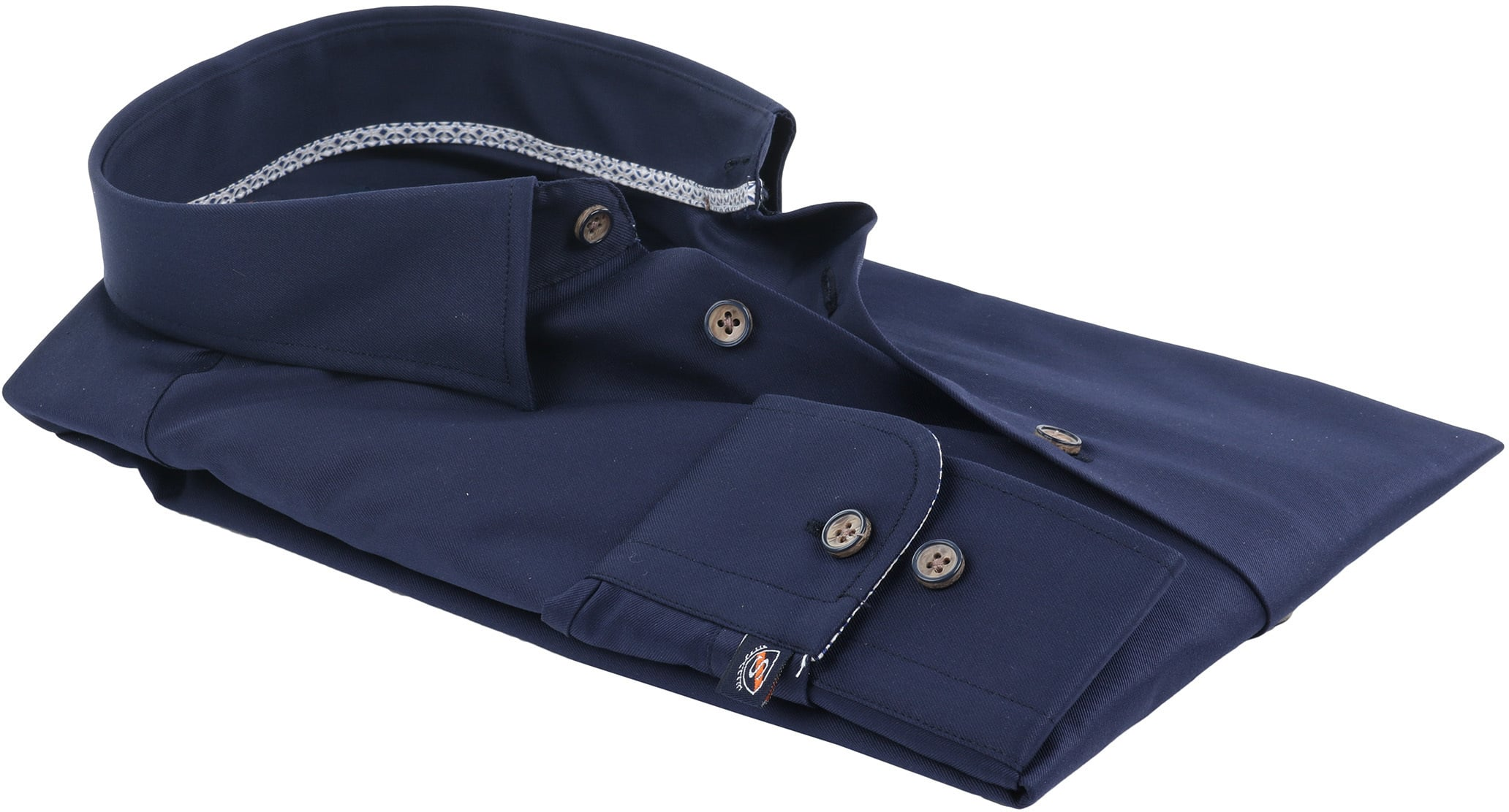Suitable Overhemd Navy HBD foto 2