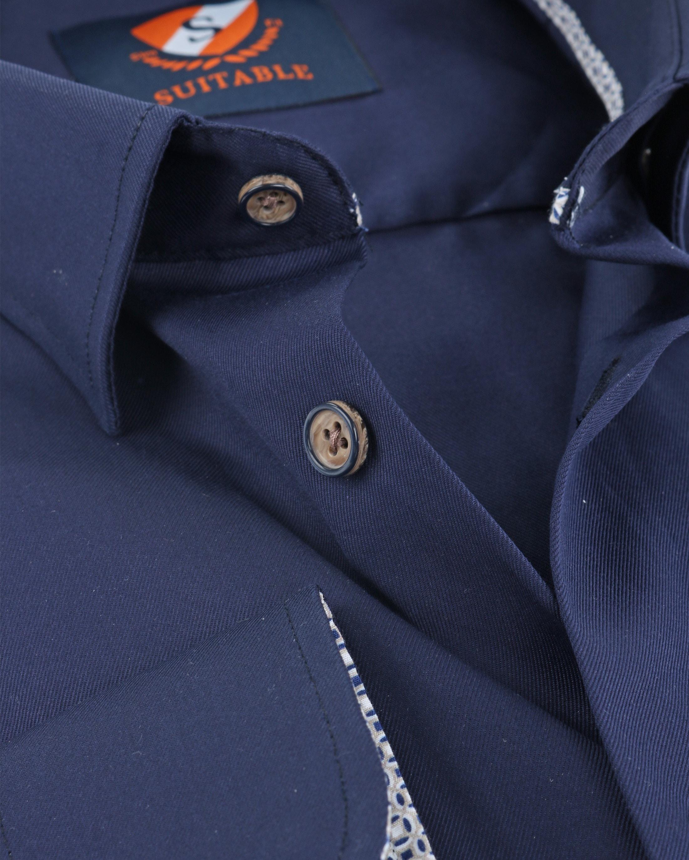 Suitable Overhemd Navy HBD foto 3