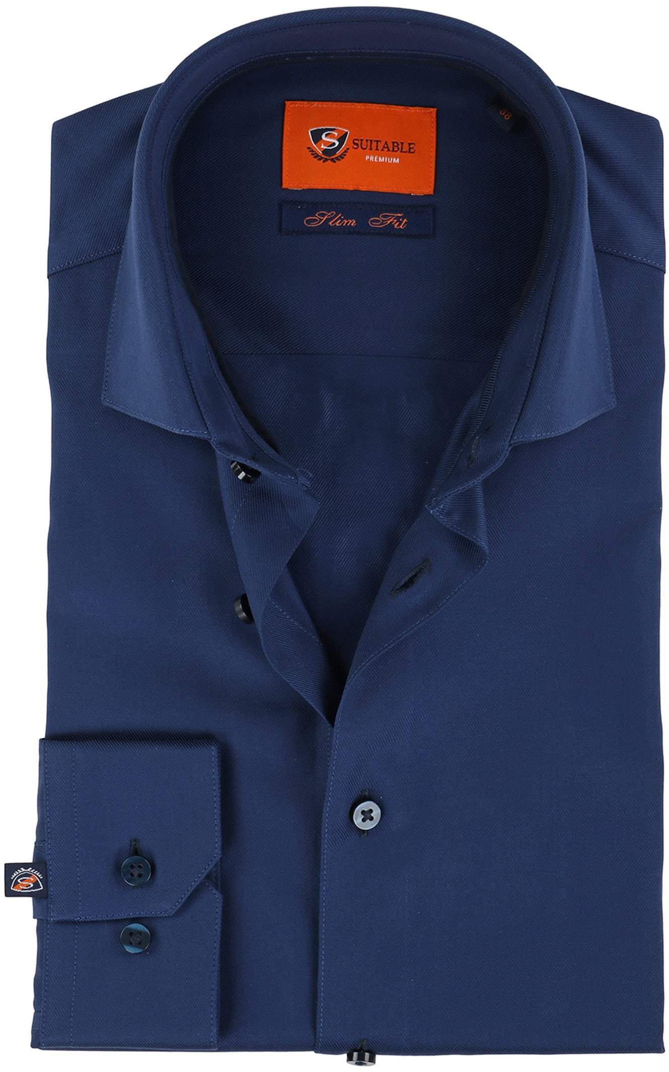 Suitable Overhemd Navy Twill DR-05 foto 0