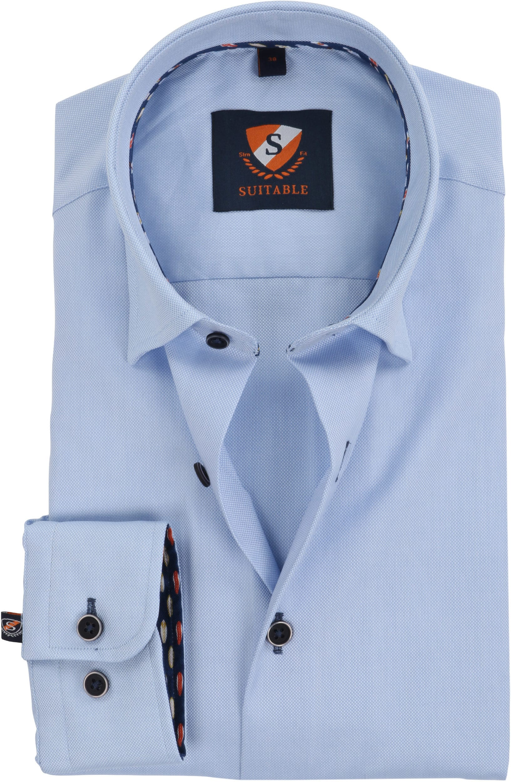 Suitable Overhemd Oxford Blauw SF foto 0