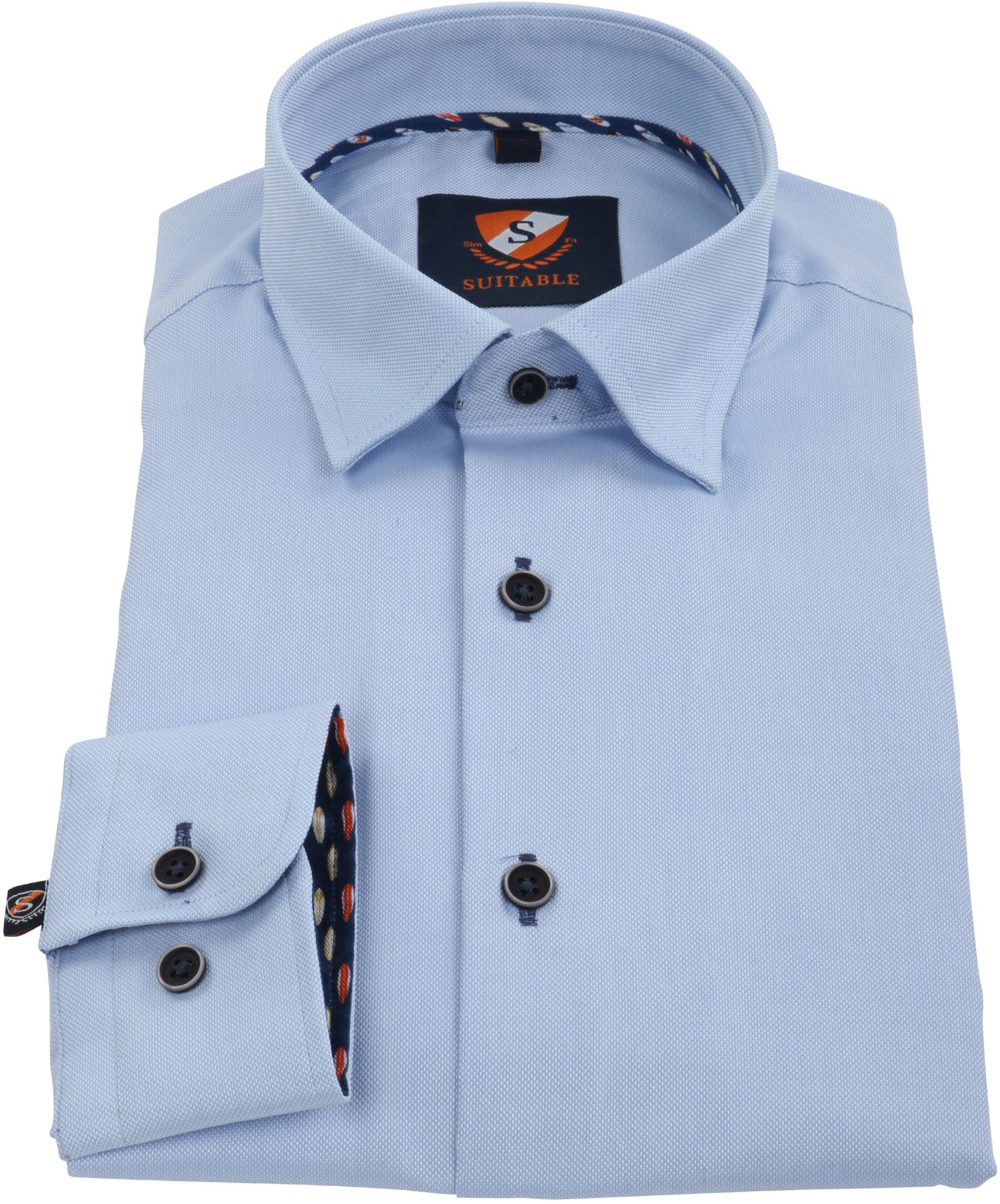 Suitable Overhemd Oxford Blauw SF foto 2