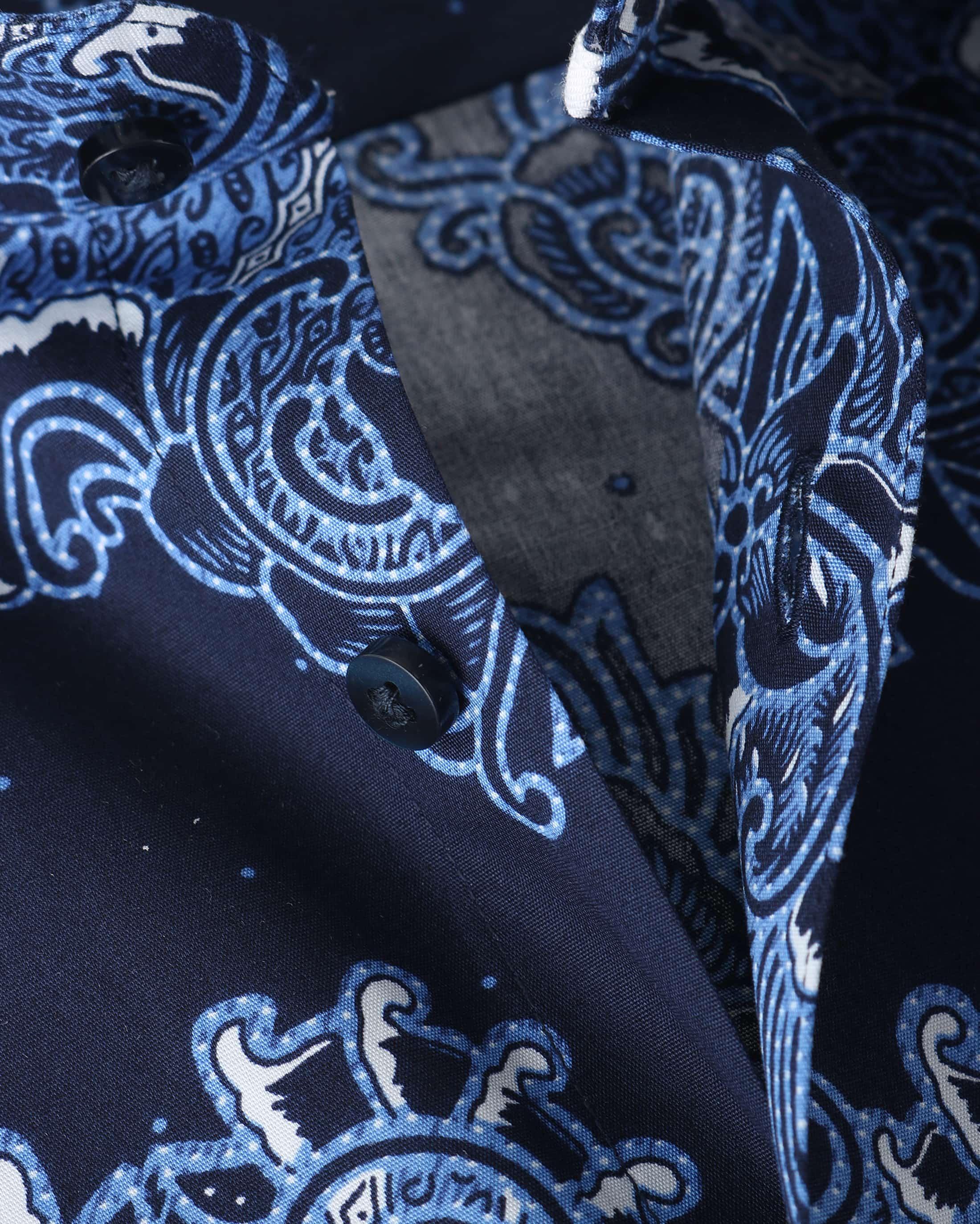 Suitable Overhemd Paisley Print Royal foto 1