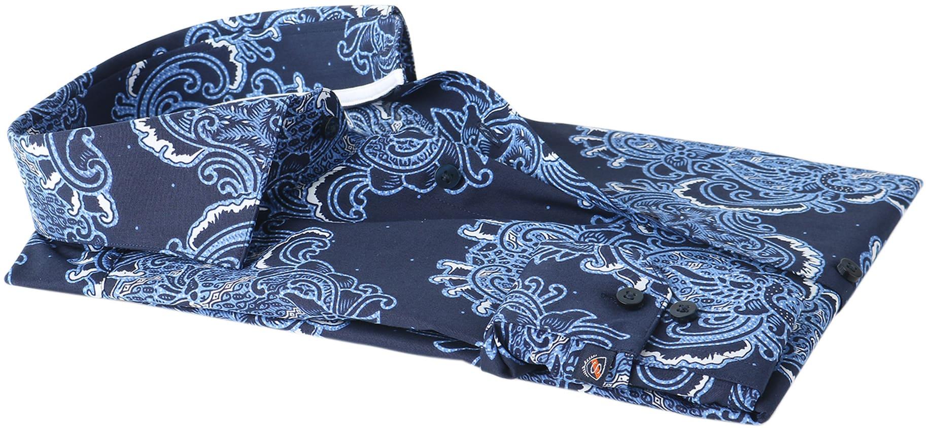Suitable Overhemd Paisley Print Royal foto 3