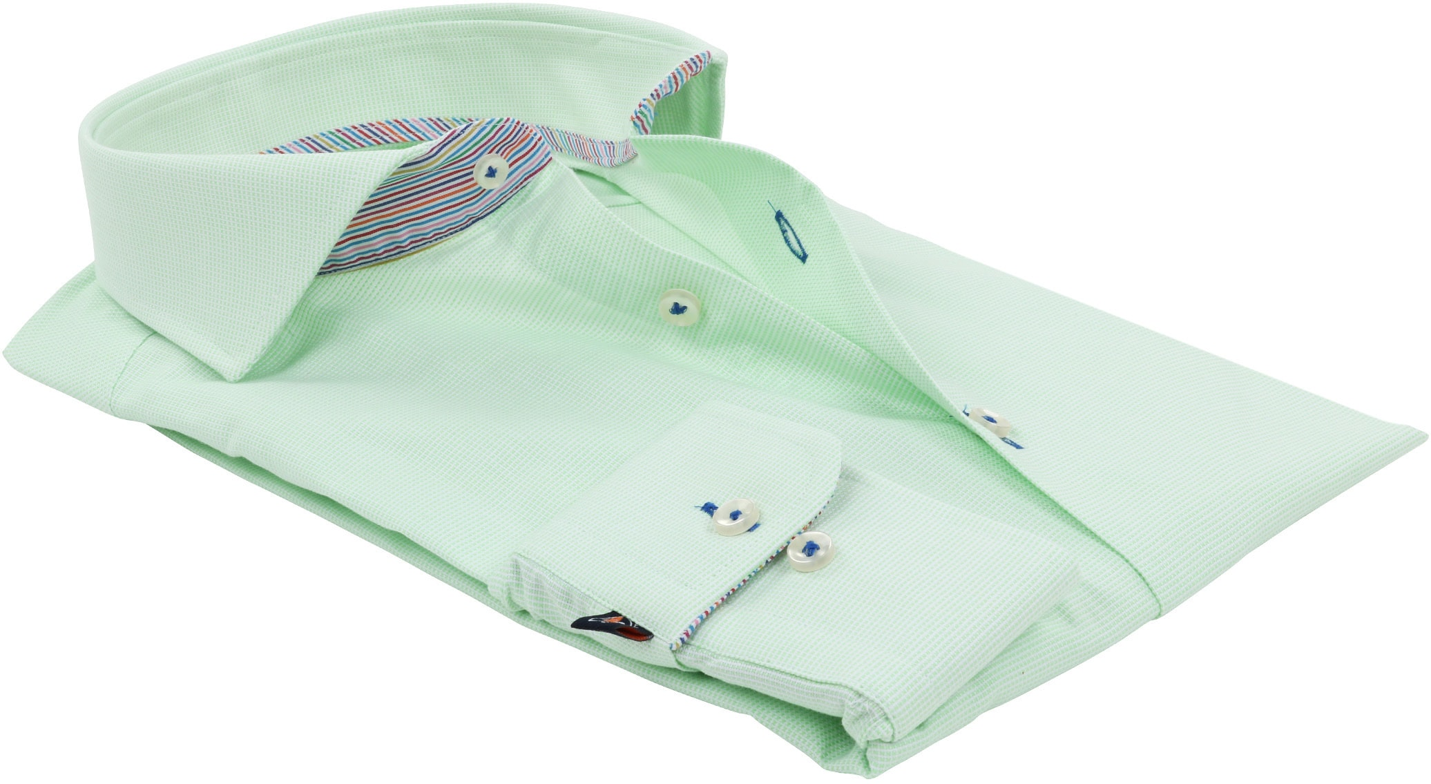 Suitable Overhemd Pinpoint Groen 174-5 foto 3