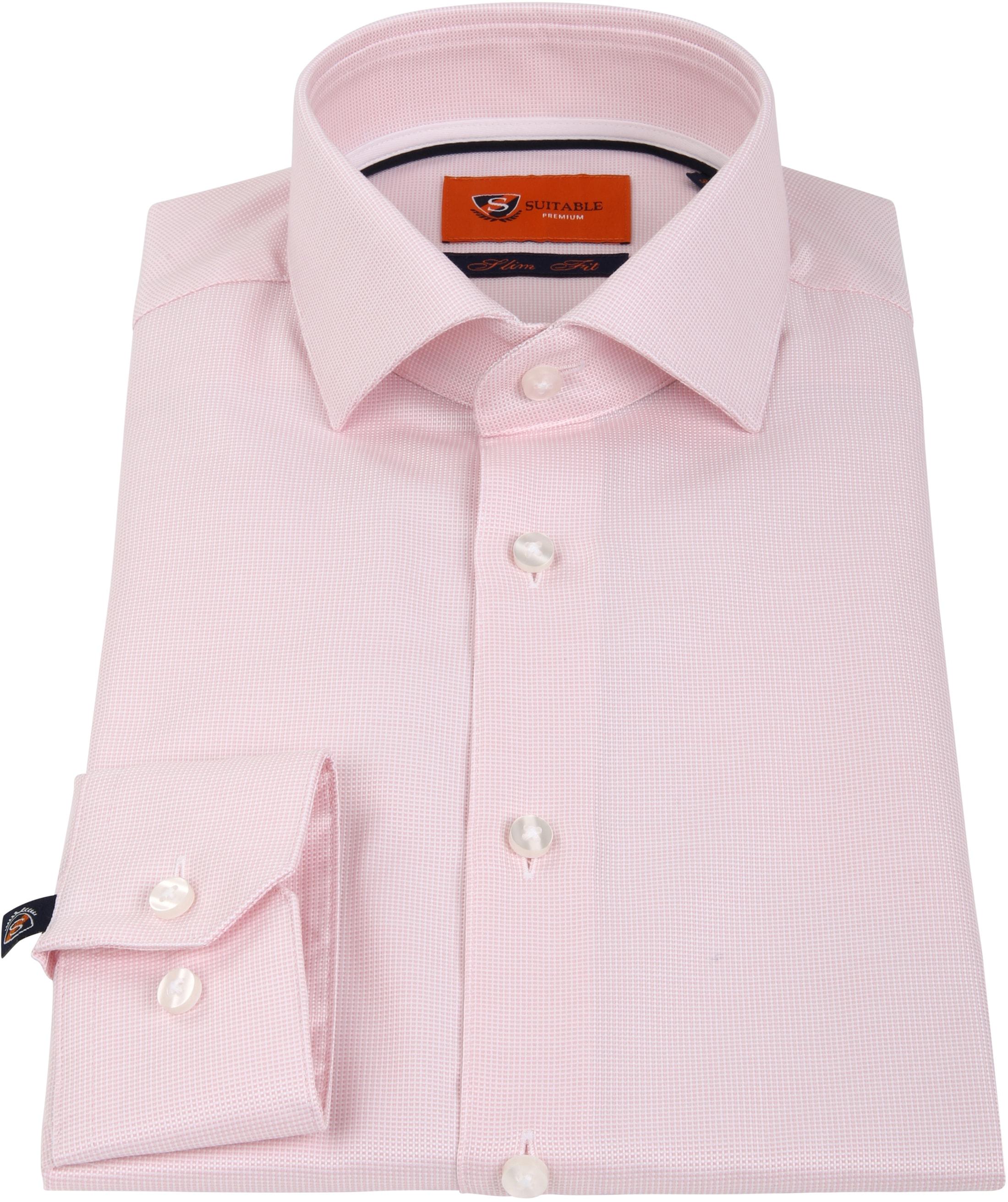 Suitable Overhemd Roze D81-16 foto 2