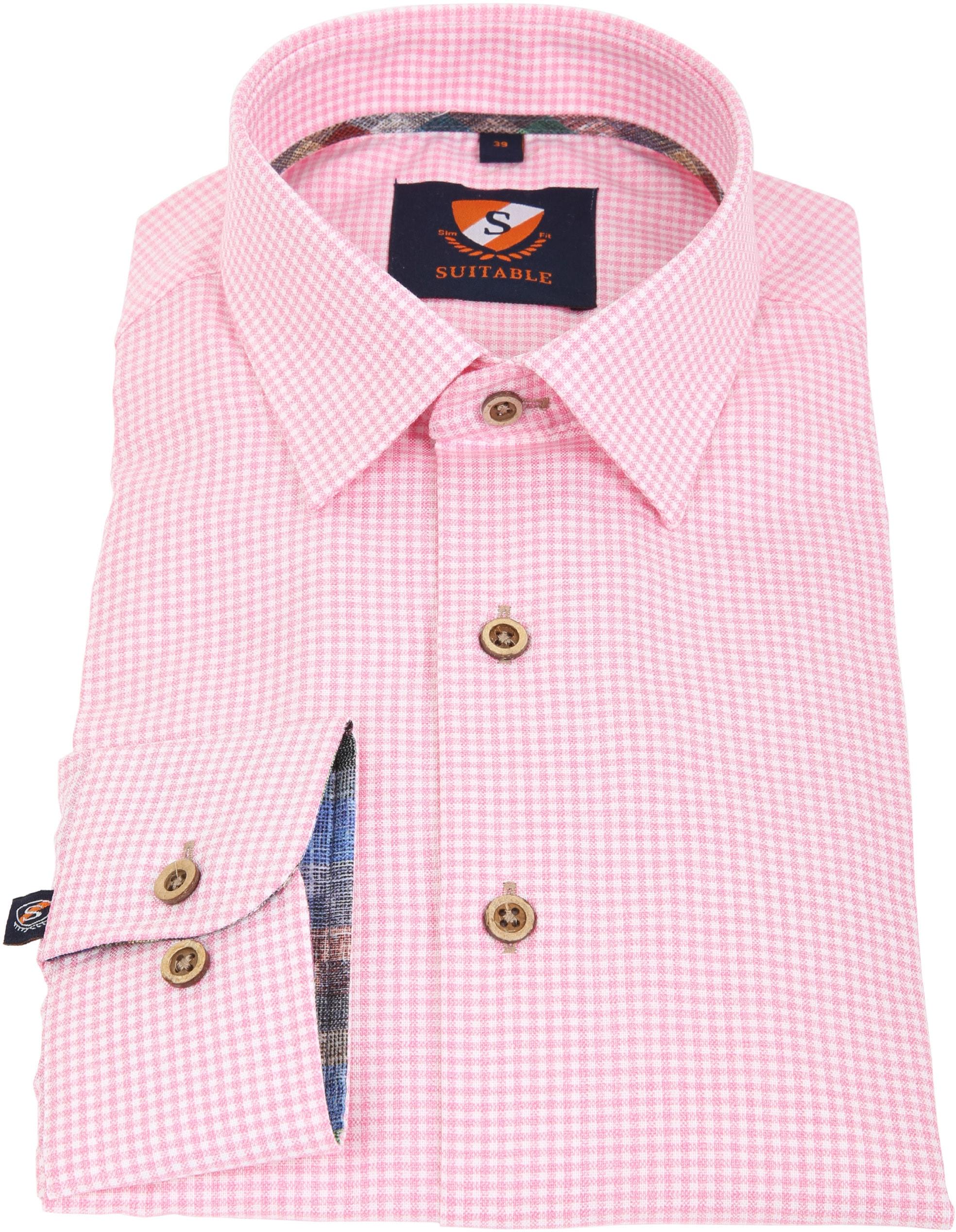 Suitable Overhemd Roze Ruit 181-6 foto 2