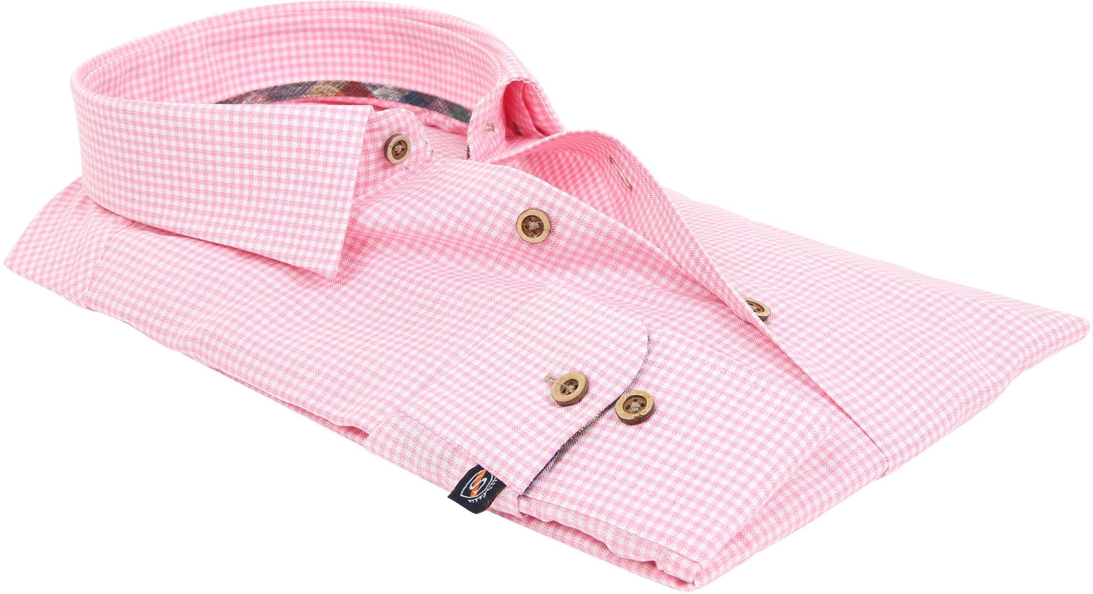 Suitable Overhemd Roze Ruit 181-6 foto 3