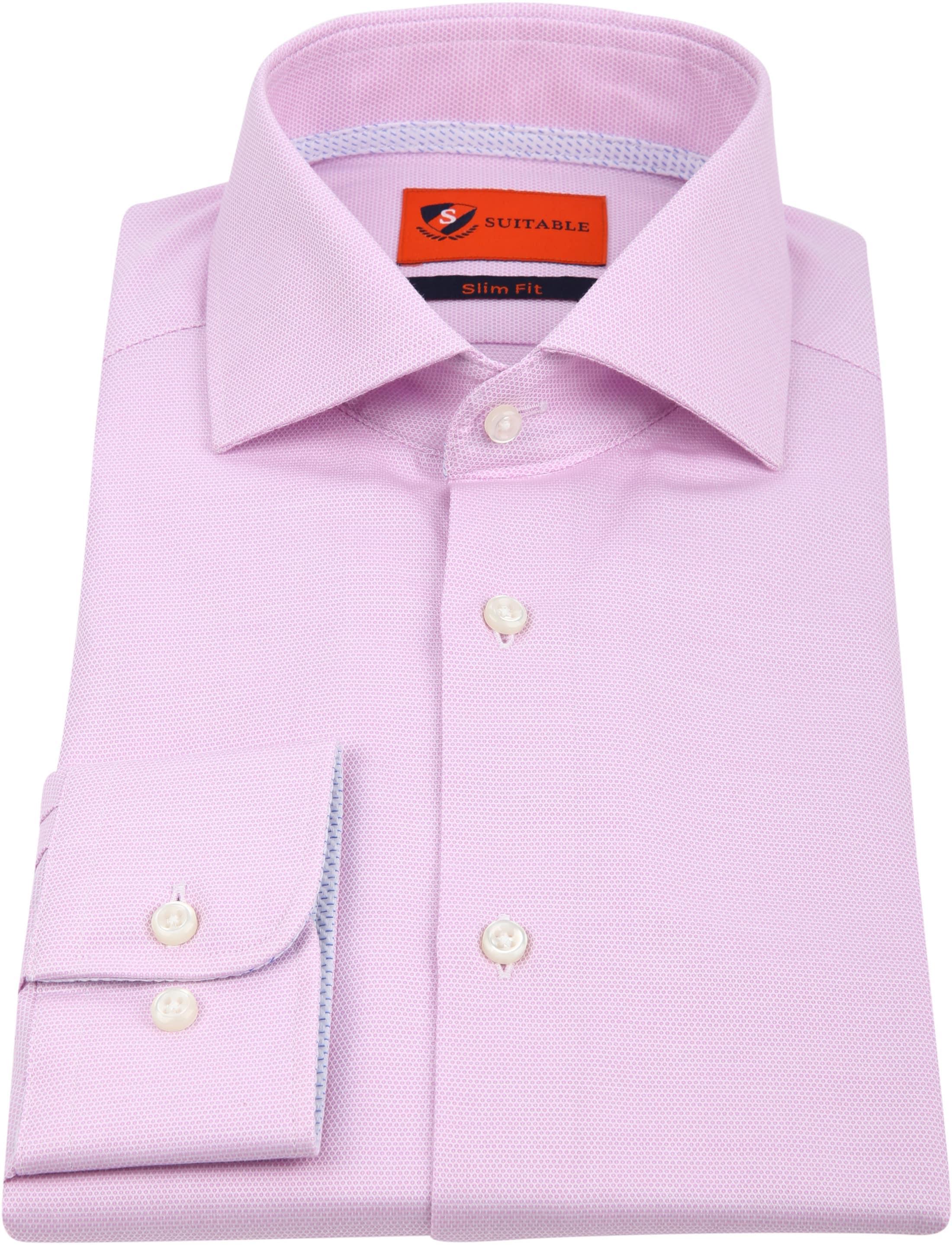 Suitable Overhemd Roze Wesley foto 2
