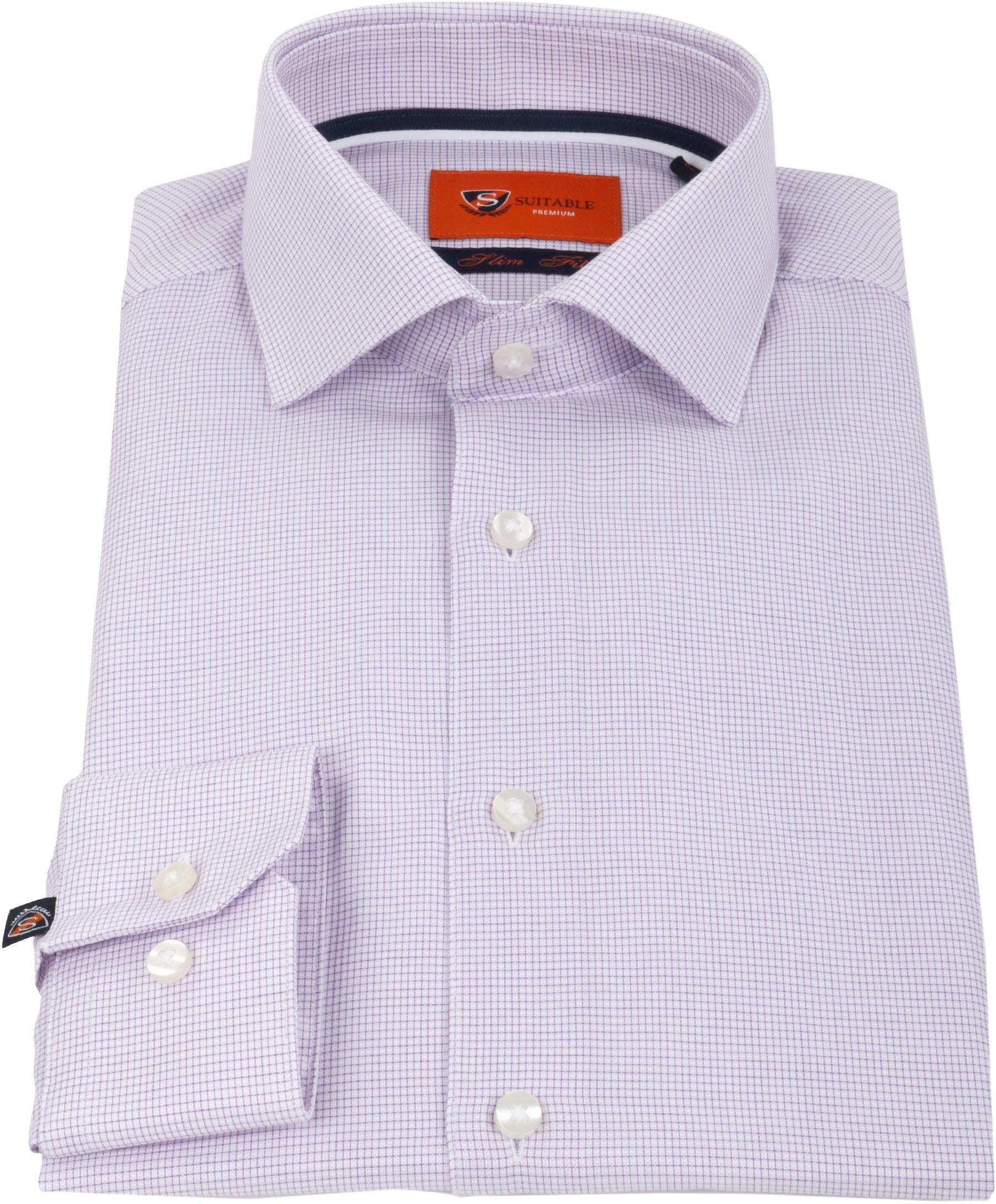 Suitable Overhemd Ruit Paars foto 2