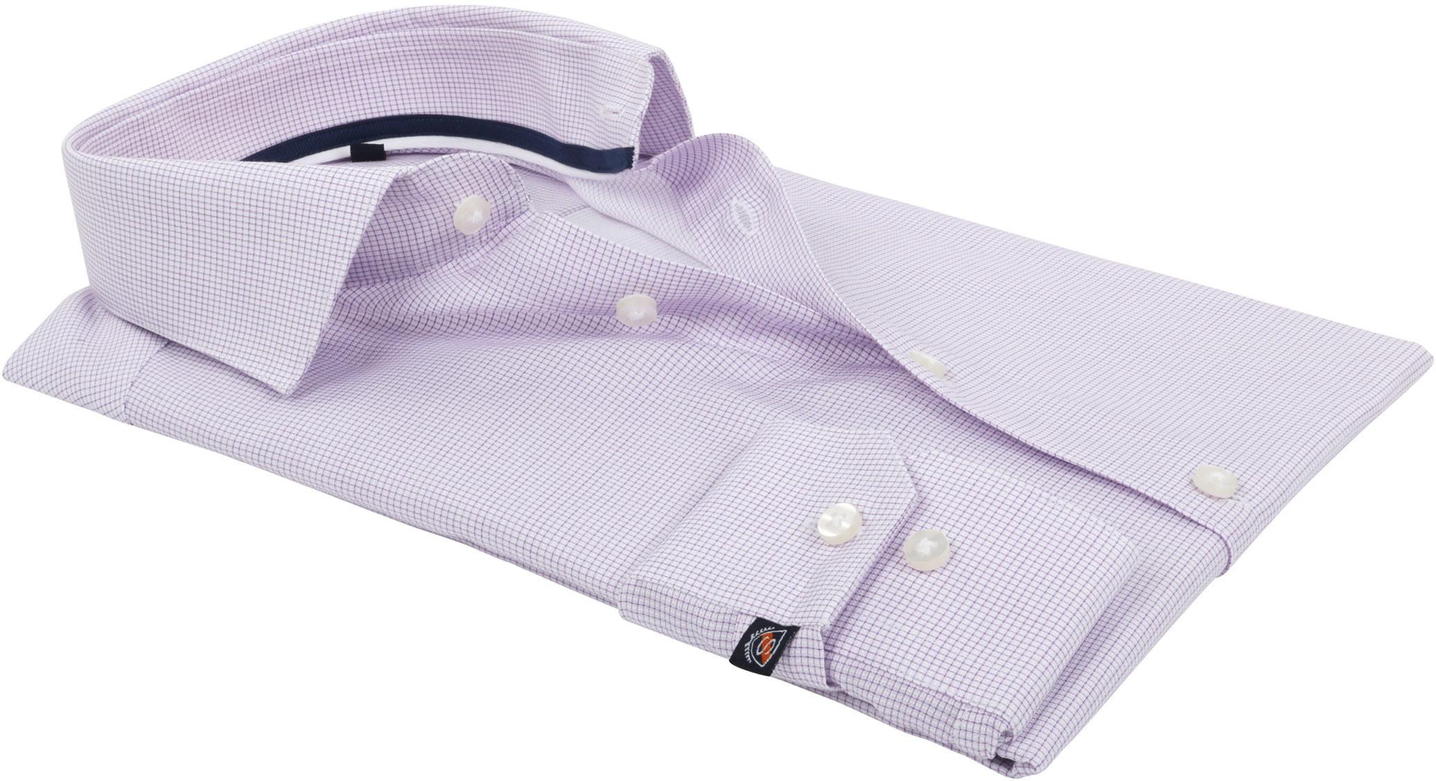 Suitable Overhemd Ruit Paars foto 3