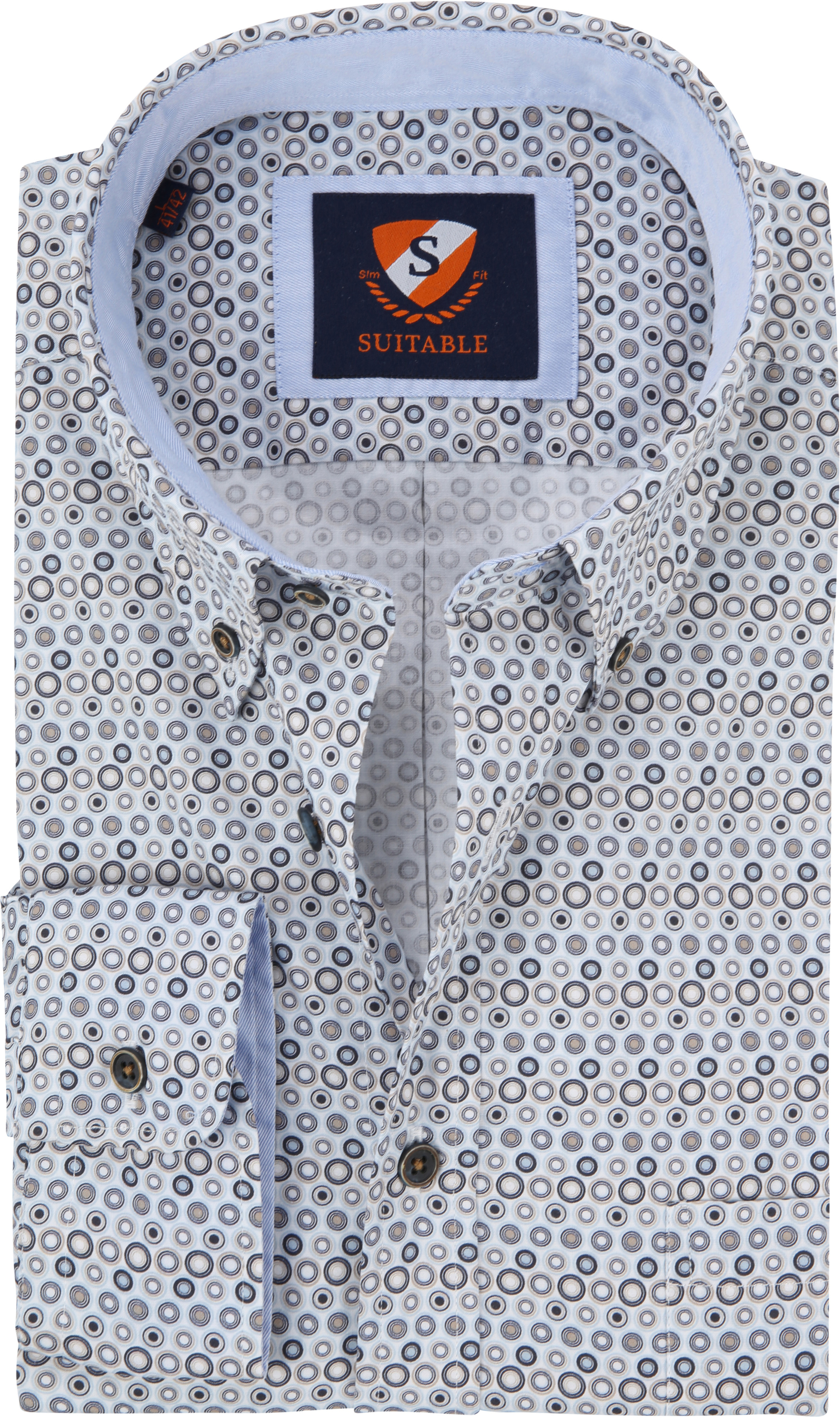 Suitable Overhemd SF Blue Dots foto 0