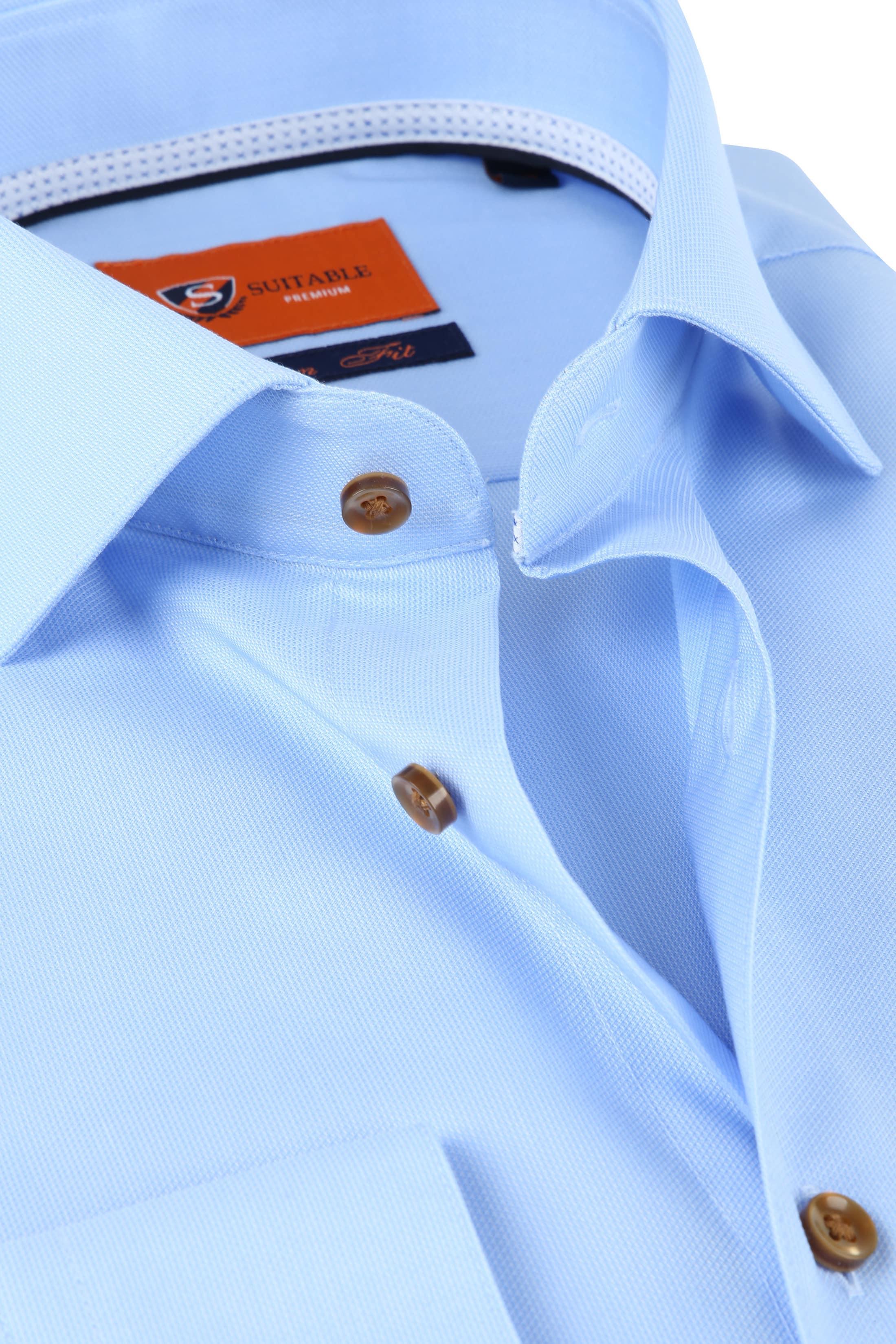 Suitable Overhemd SF Lichtblauw