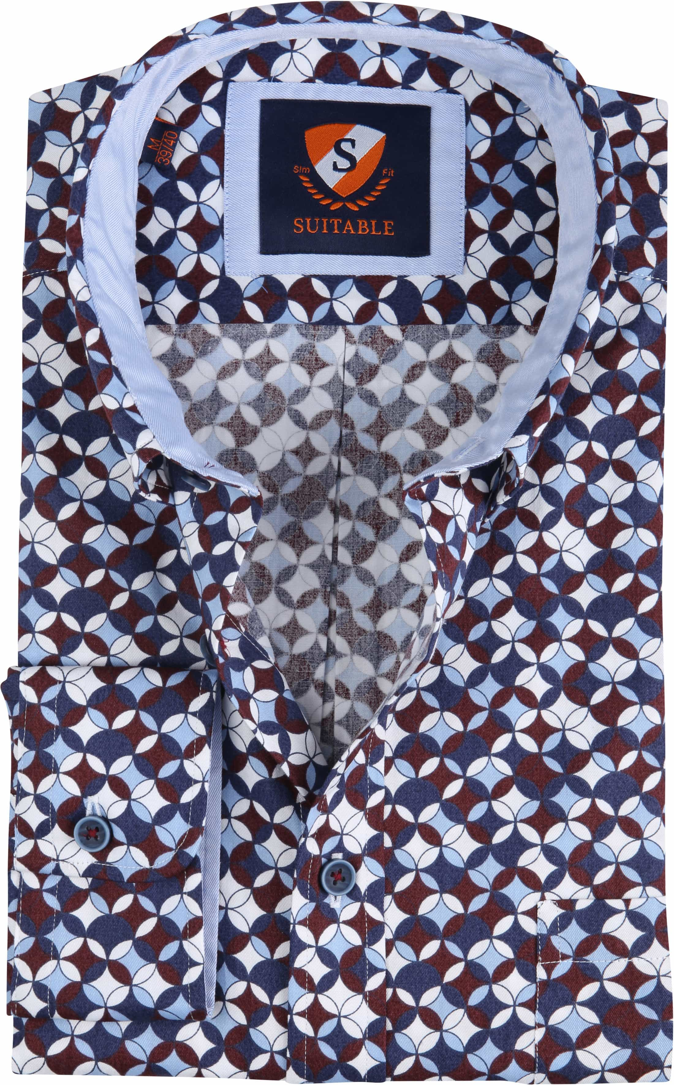 Suitable Overhemd SF Willem Bordeaux foto 0