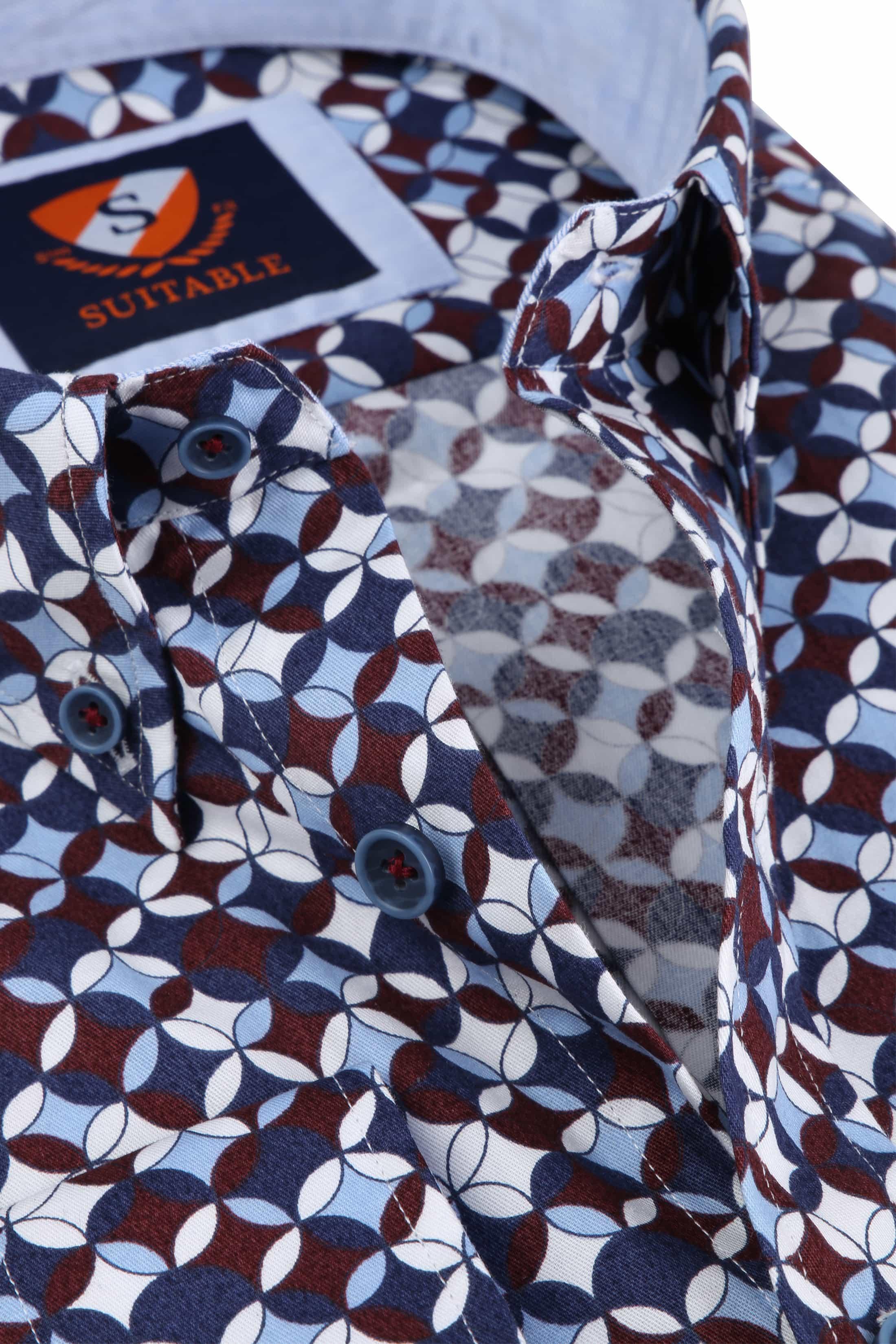 Suitable Overhemd SF Willem Bordeaux foto 1