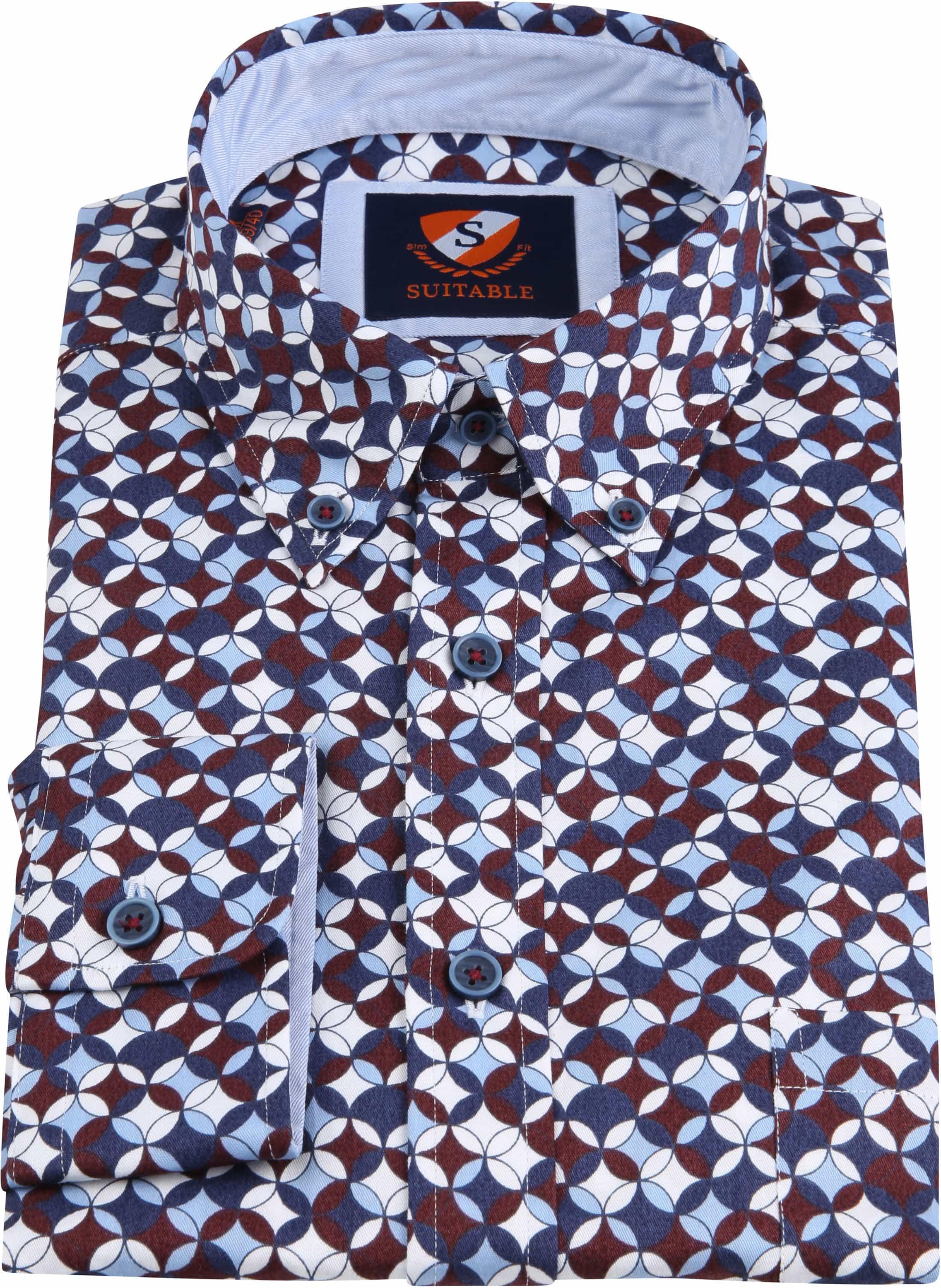 Suitable Overhemd SF Willem Bordeaux foto 3