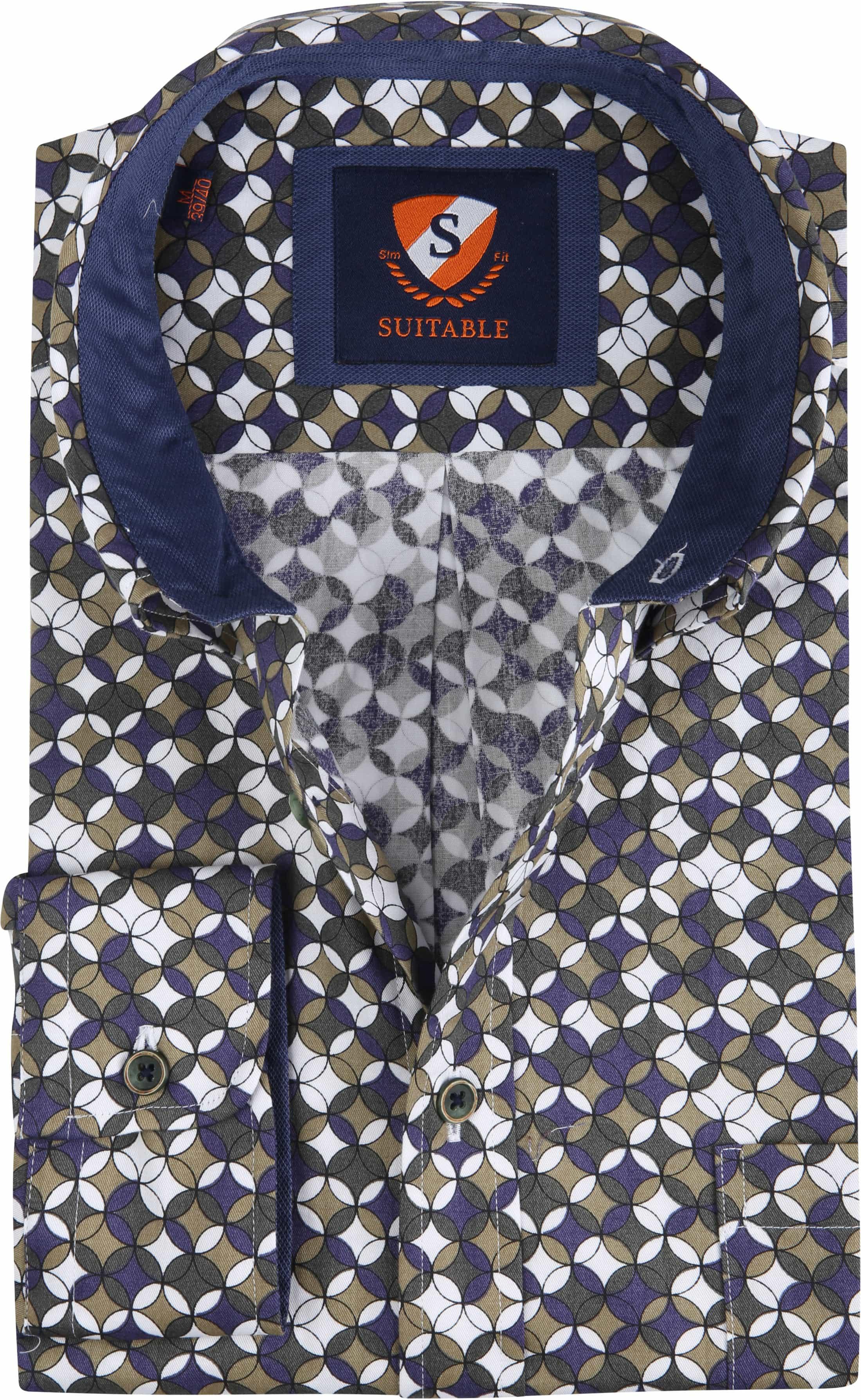 Suitable Overhemd SF Willem Groen foto 0