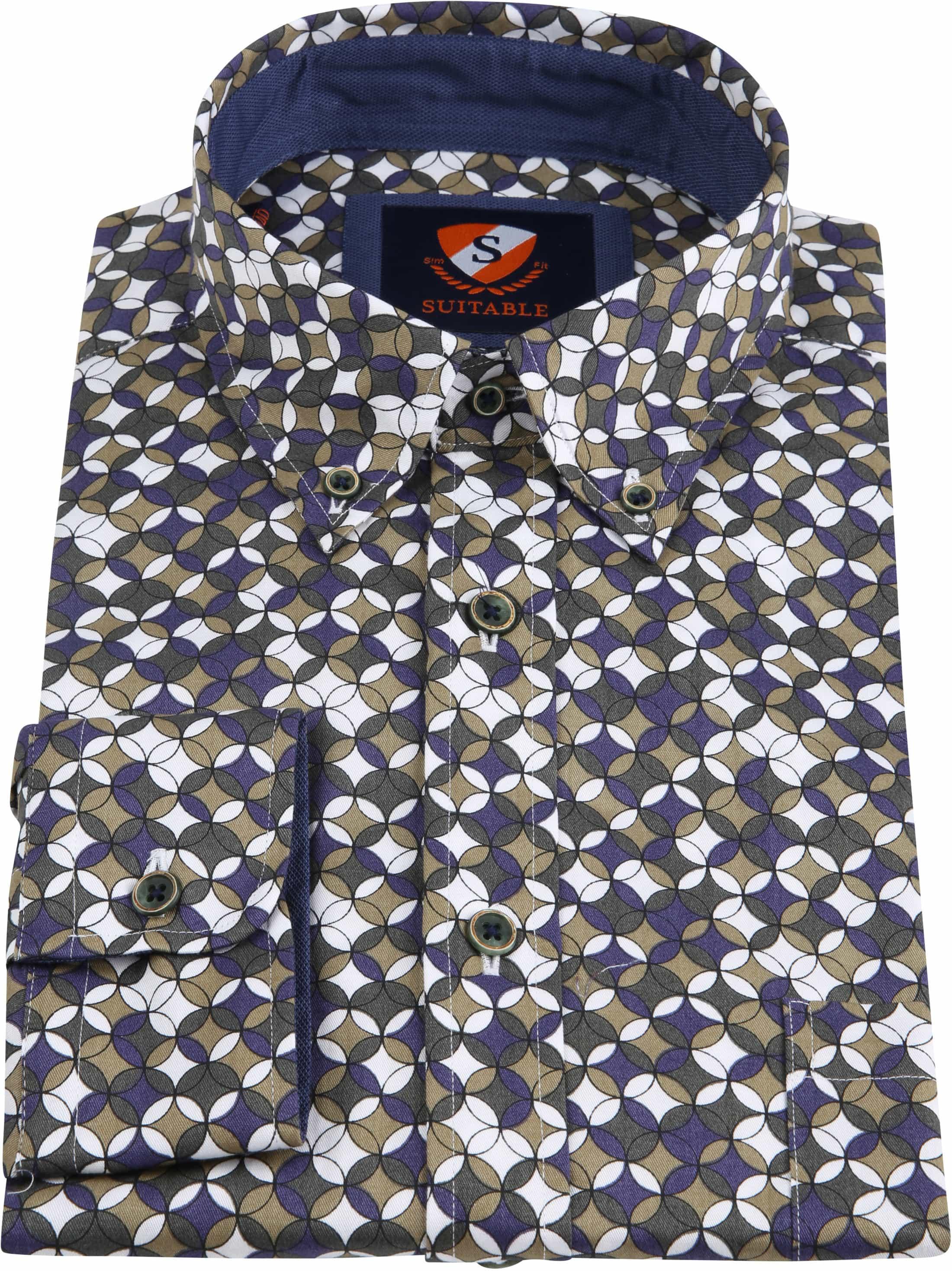Suitable Overhemd SF Willem Groen foto 3