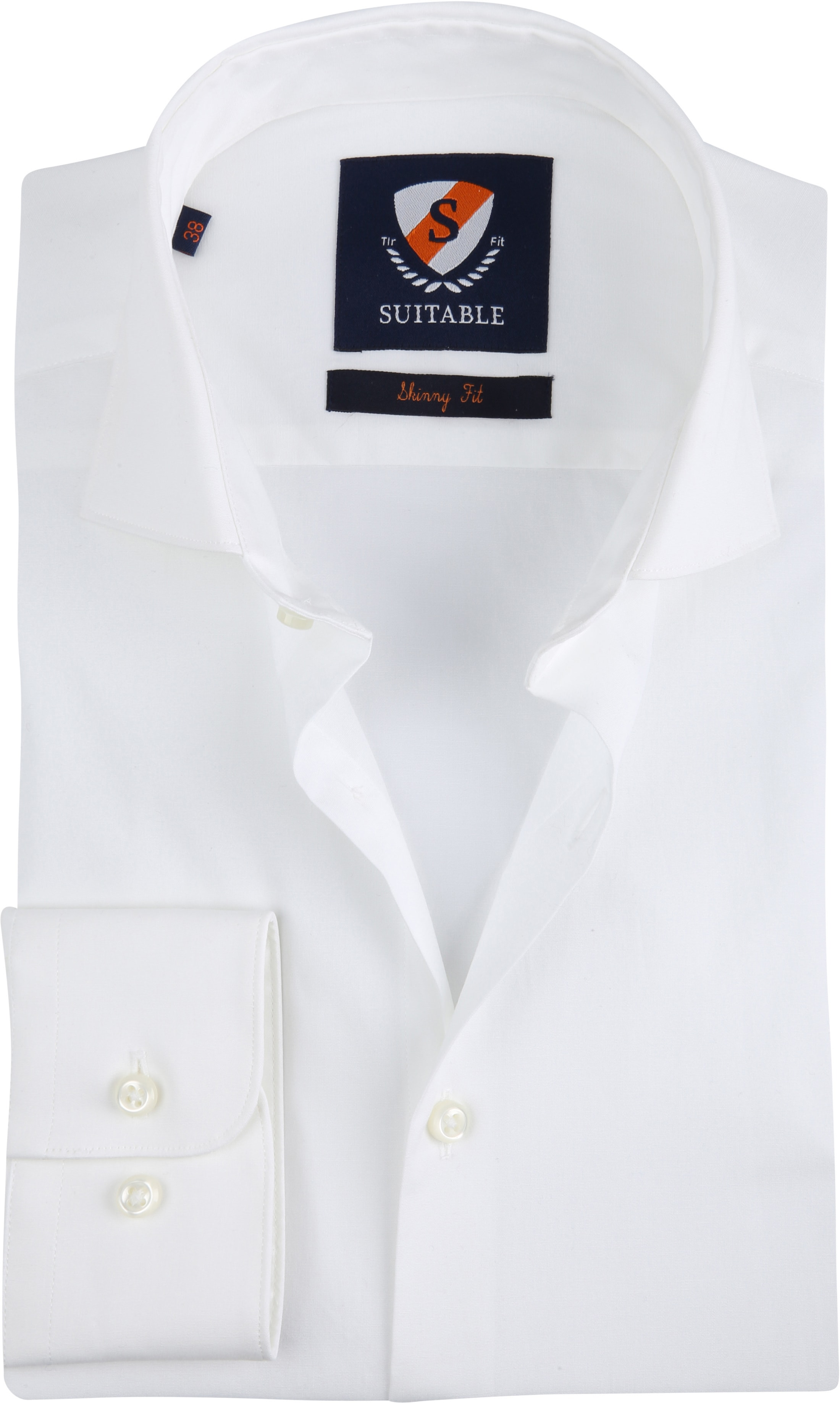 Overhemd Wit Slim Fit.Suitable Overhemd Skinny Fit Wit Spe18306we60 Online Bestellen