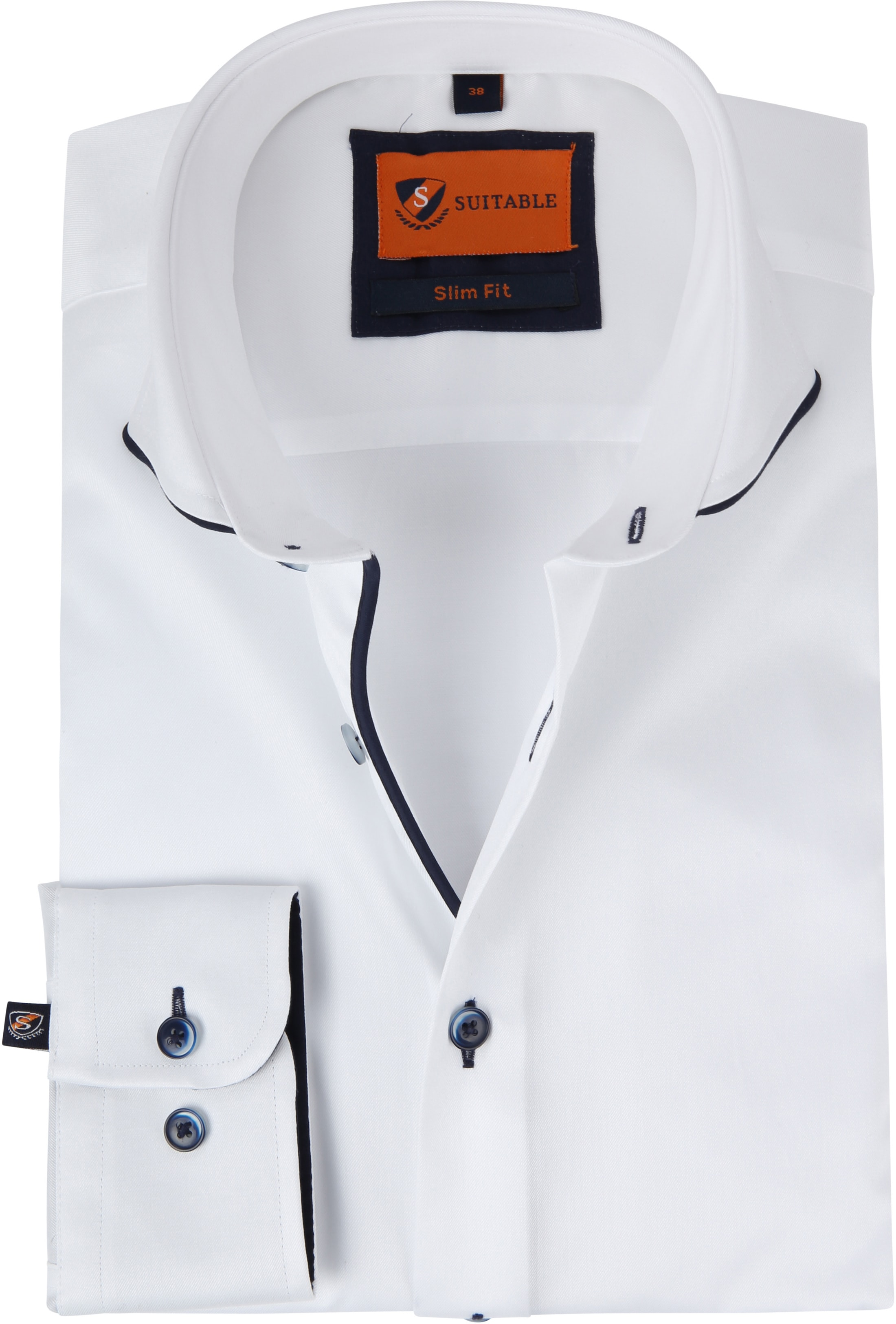 Suitable Overhemd Smart Wit foto 0