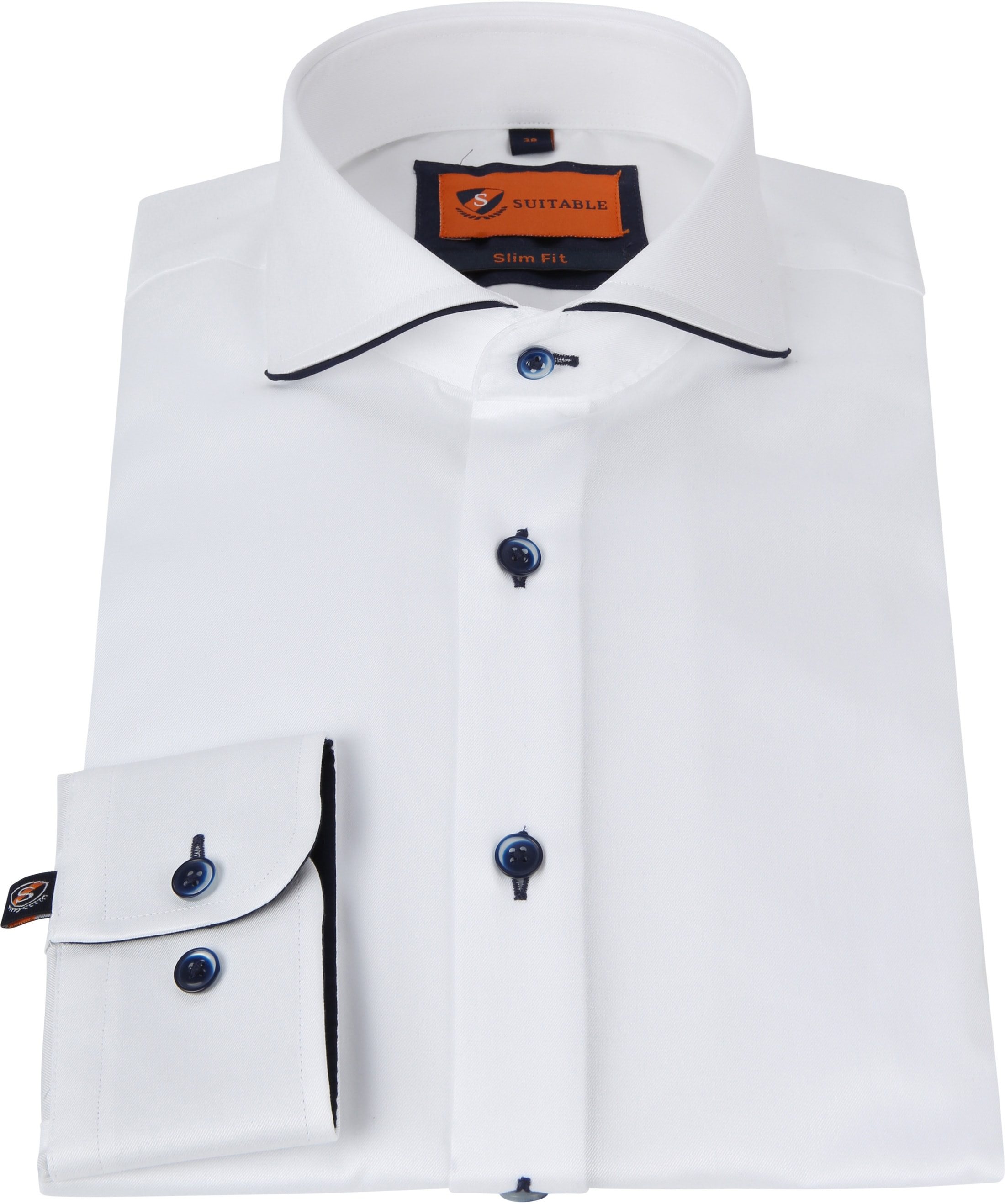 Suitable Overhemd Smart Wit foto 2