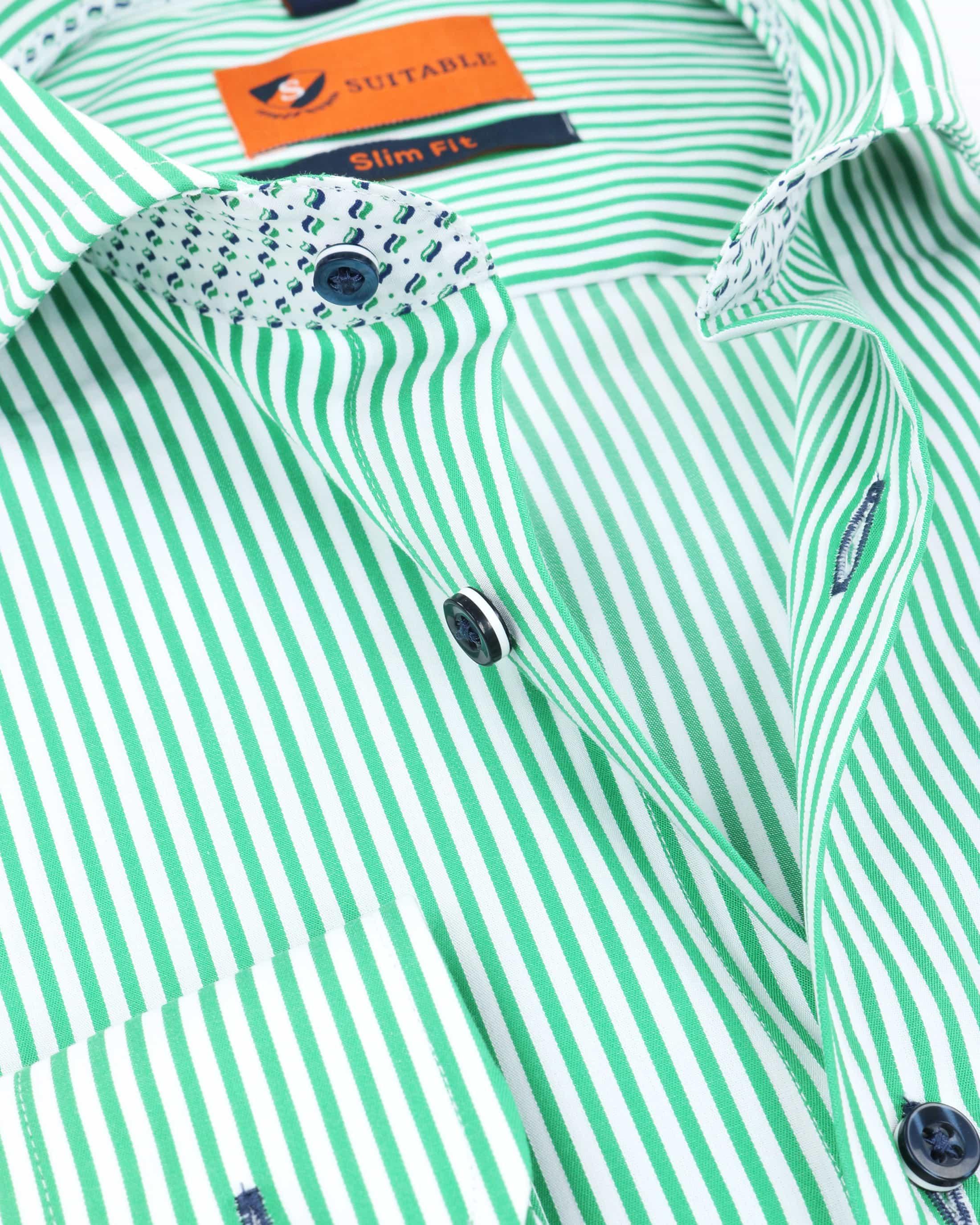 Suitable Overhemd Strepen Groen 174-6 foto 1