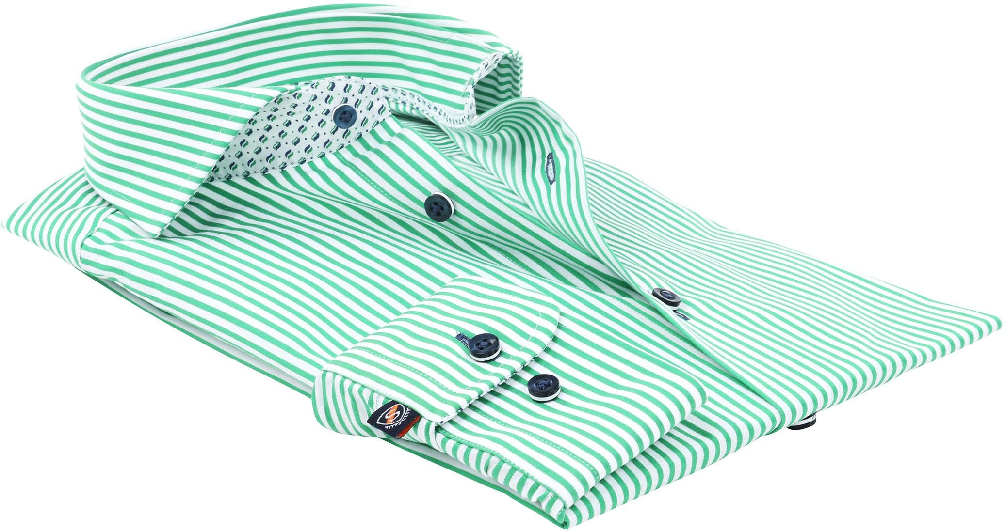 Suitable Overhemd Strepen Groen 174-6 foto 3