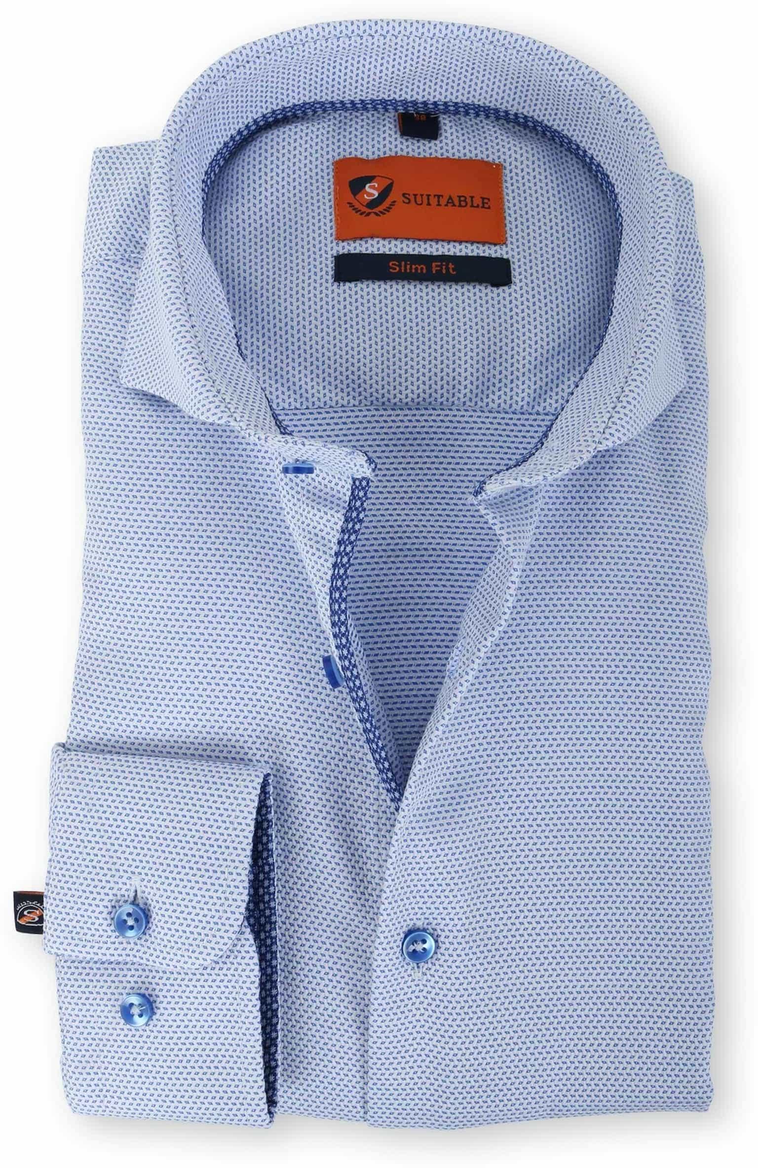 Overhemd Strijkvrij Slim Fit.Suitable Overhemd Strijkvrij Blauw 135 5 Caw No Iron 135 5
