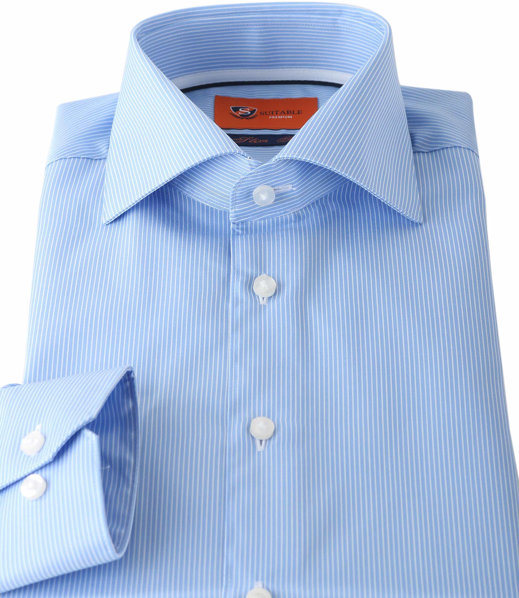 Suitable Overhemd Stripe Blue Adam foto 2