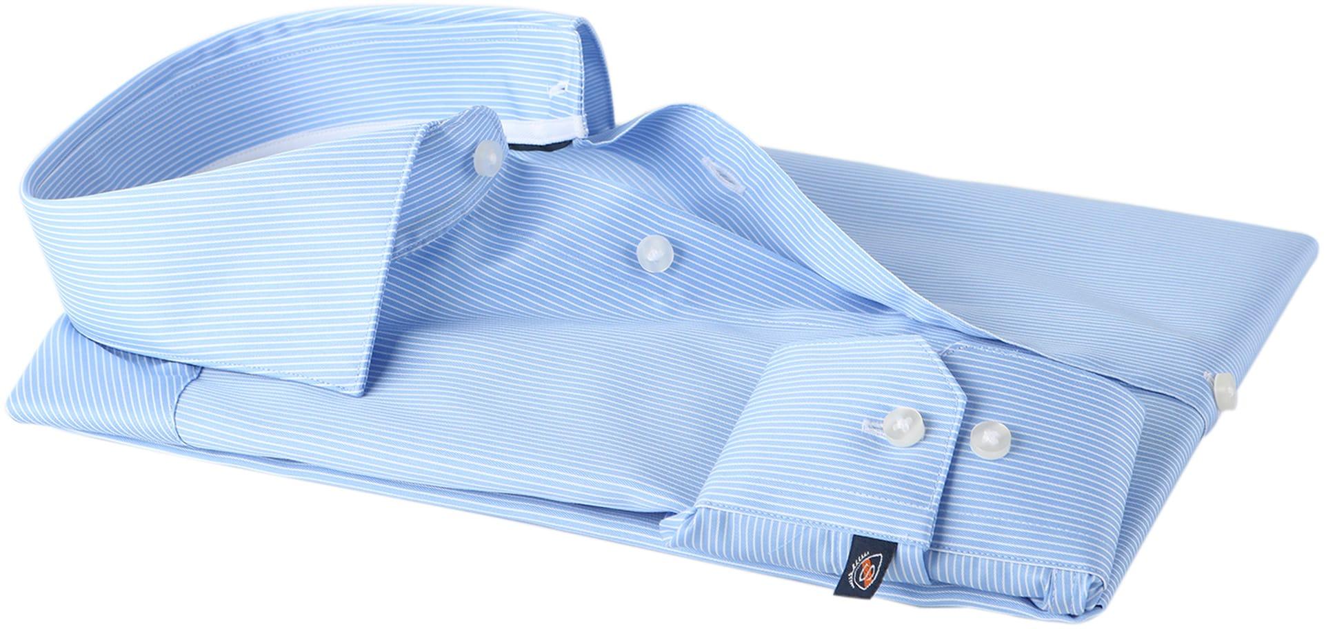 Suitable Overhemd Stripe Blue Adam foto 3