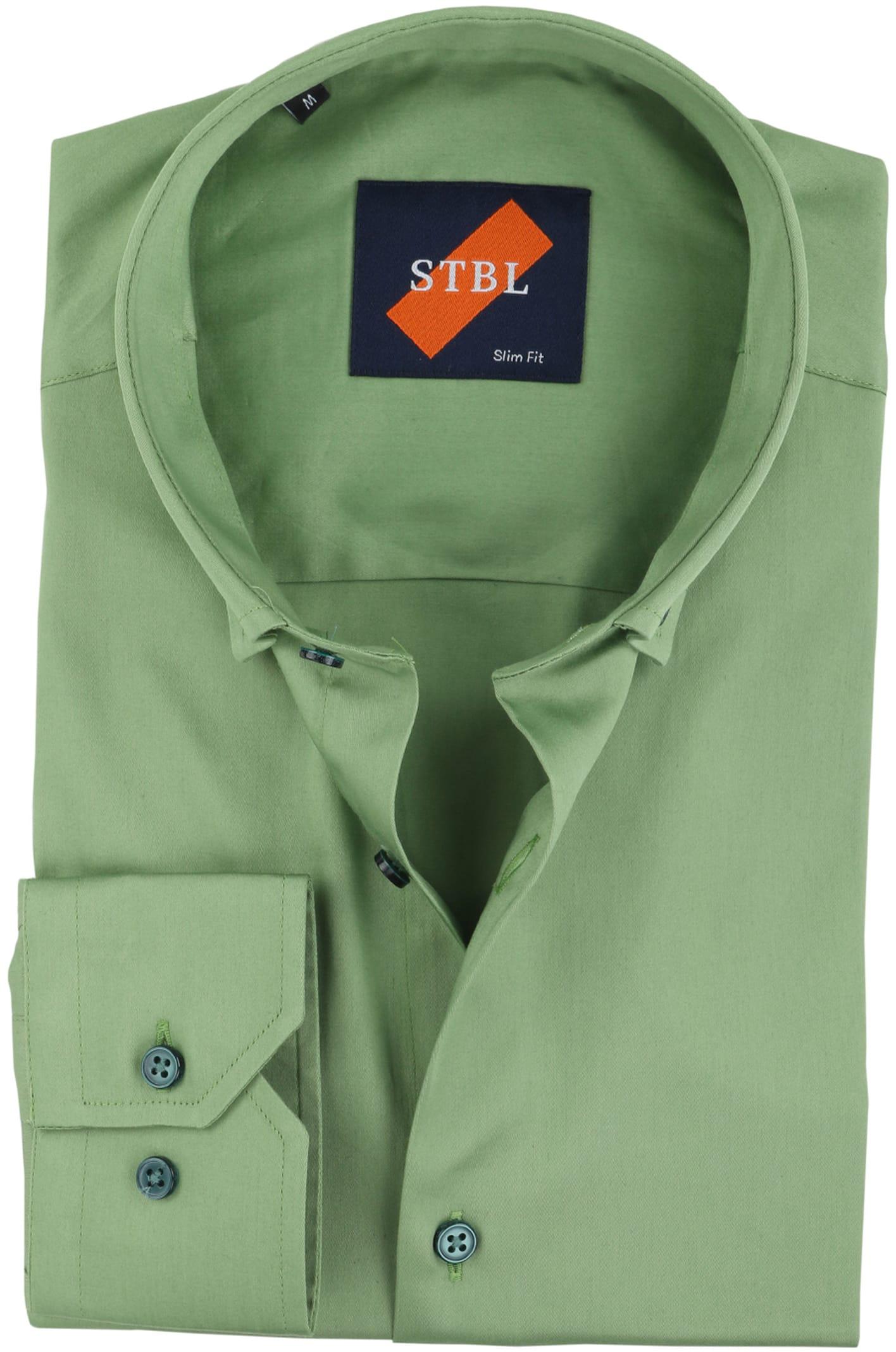 Overhemd Mintgroen.Suitable Overhemd Uni Groen S4 03 Green Satin Online Bestellen