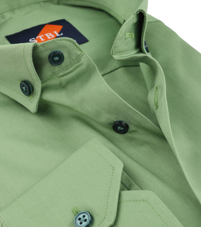 Suitable Overhemd Uni Groen foto 1