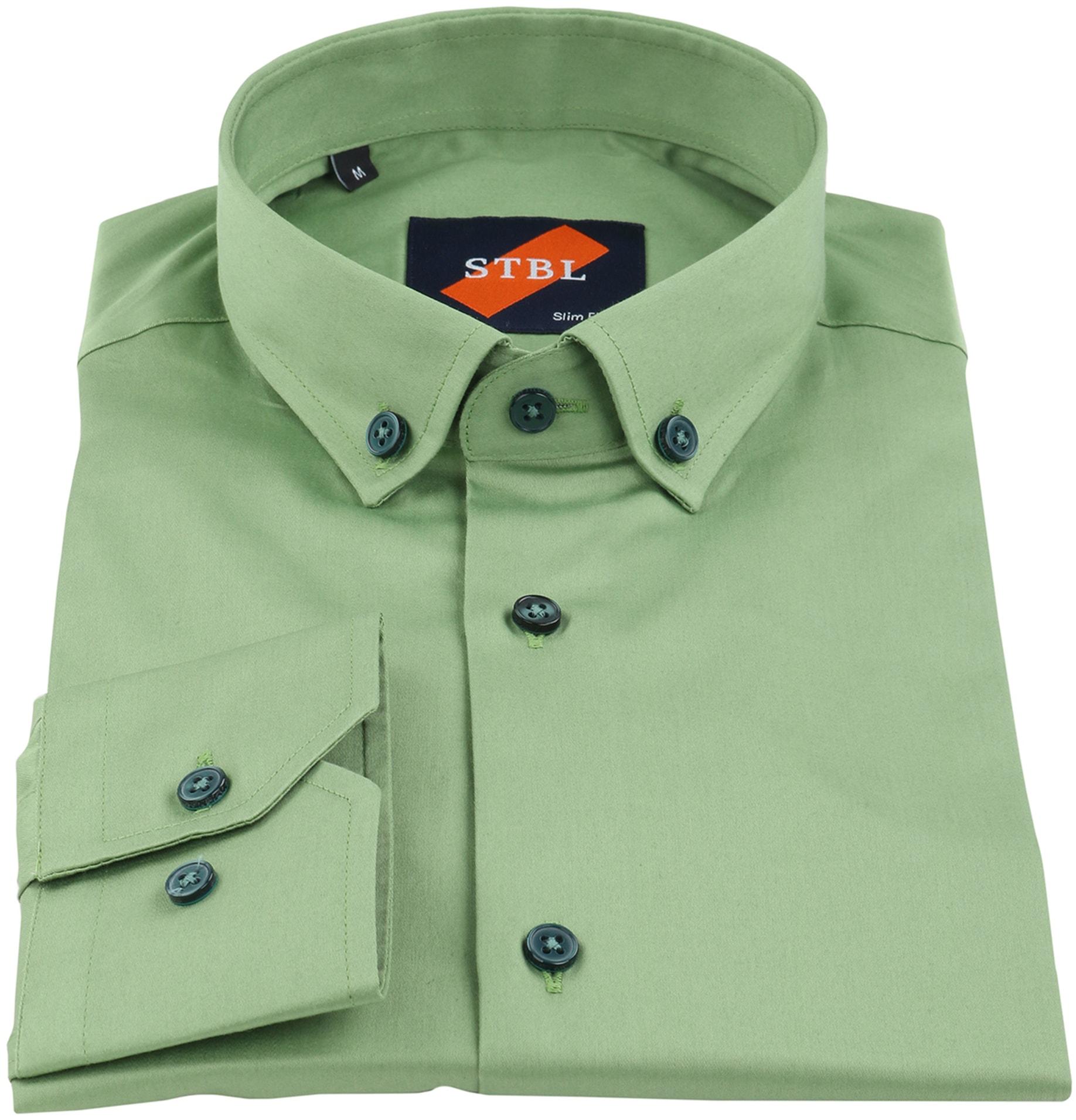 Suitable Overhemd Uni Groen foto 2