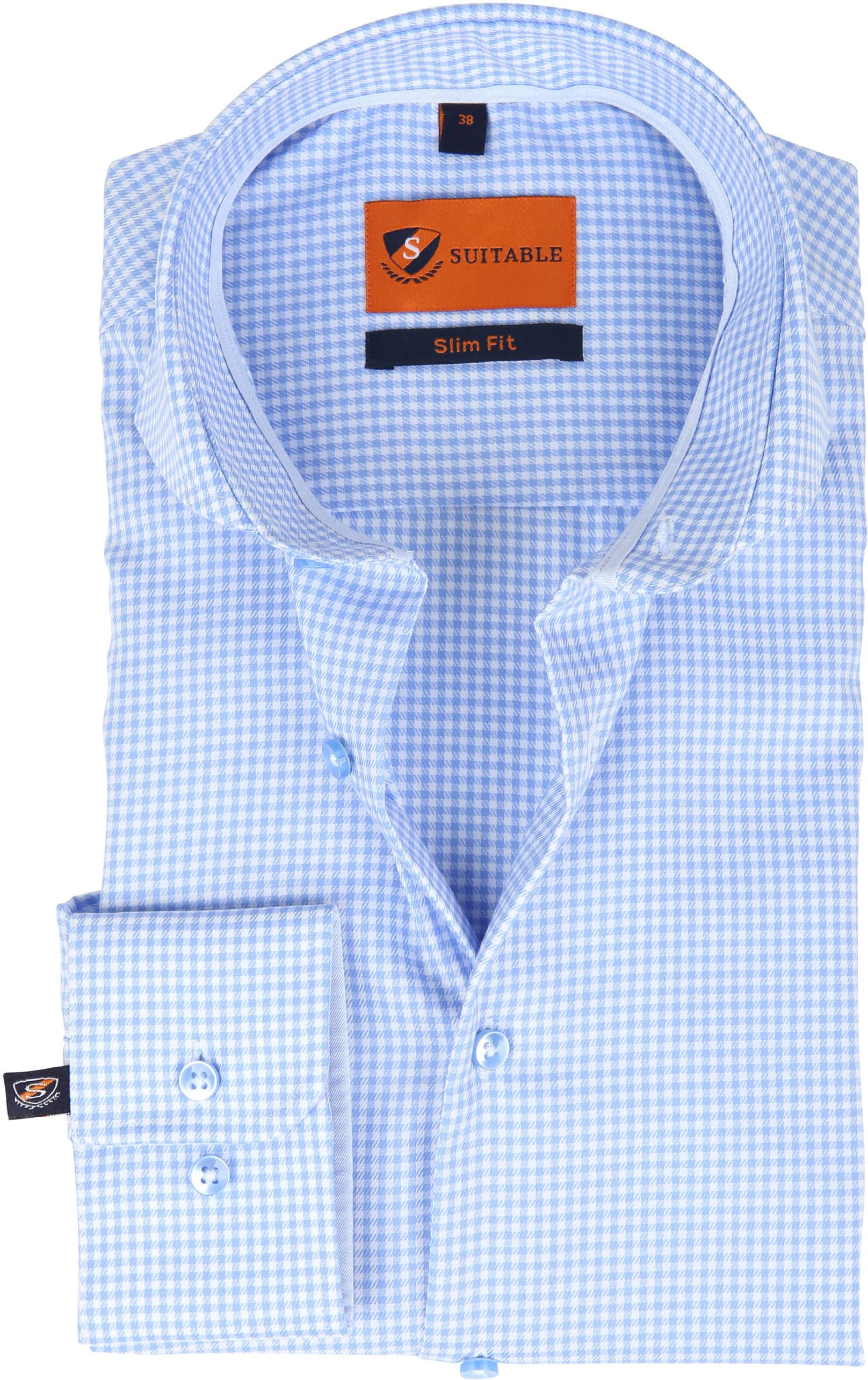 Suitable Overhemd Vichy Blue foto 0