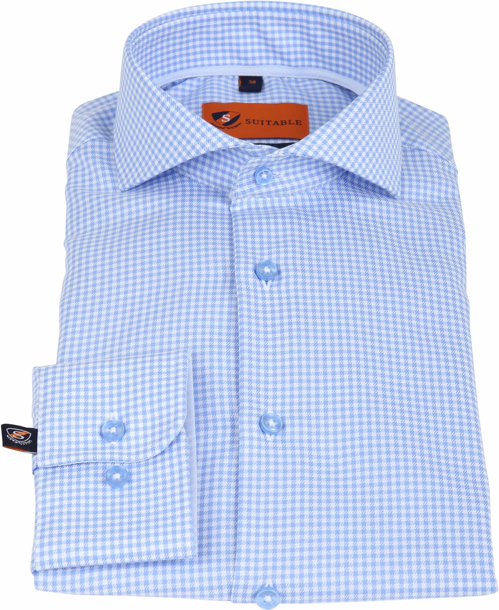Suitable Overhemd Vichy Blue foto 1