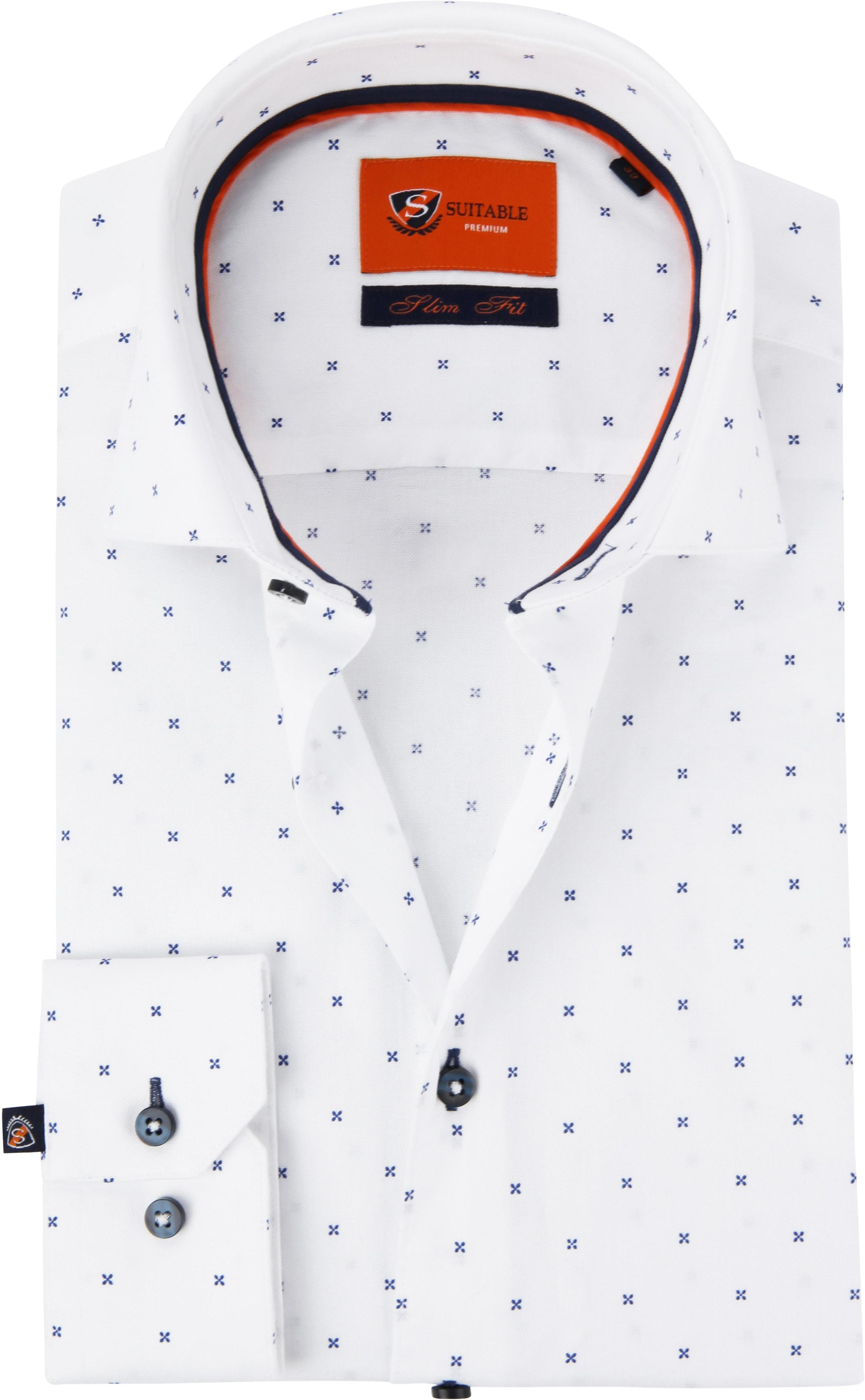 Suitable Overhemd WS Kruis Wit foto 0