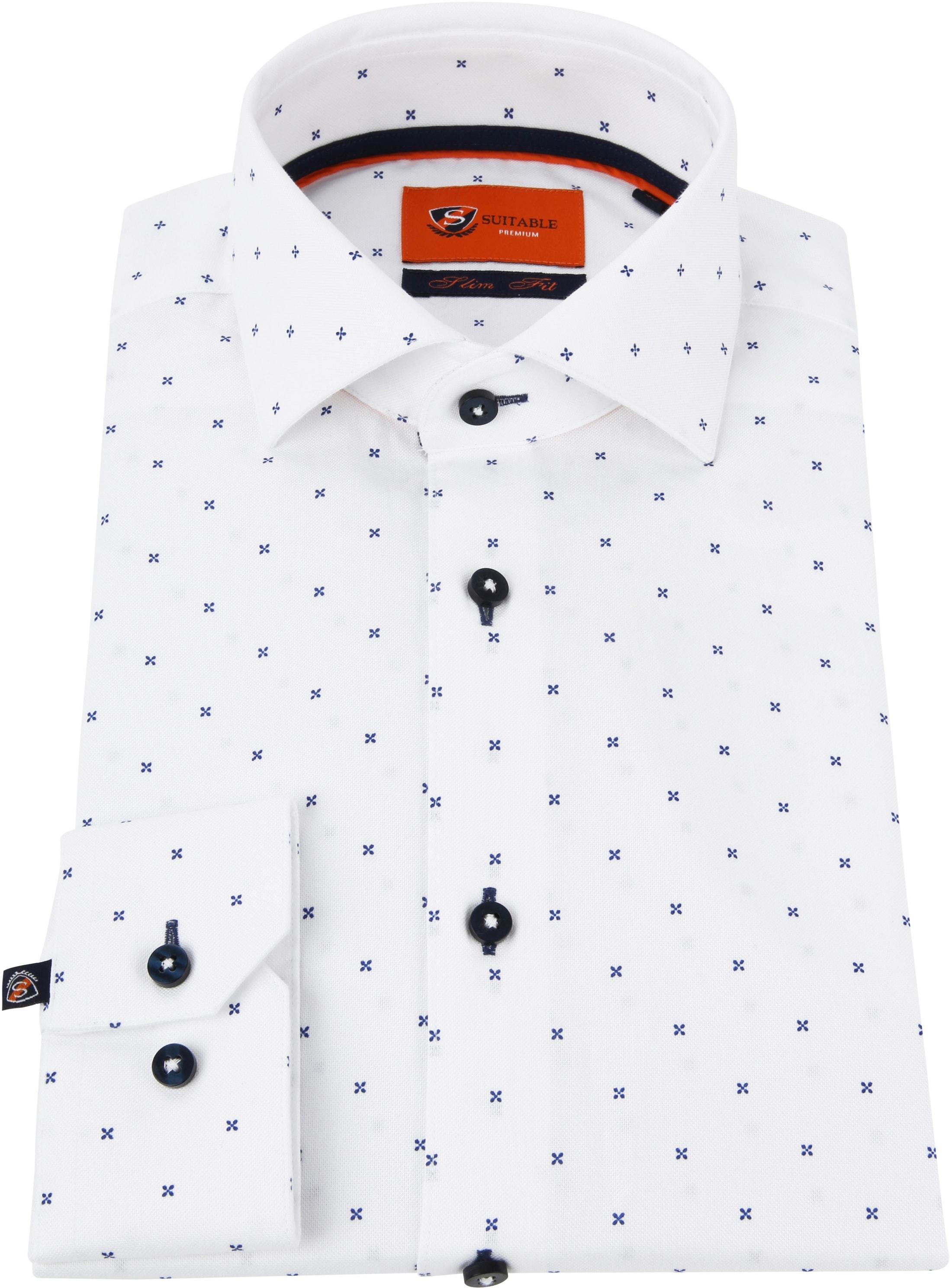 Suitable Overhemd WS Kruis Wit foto 3